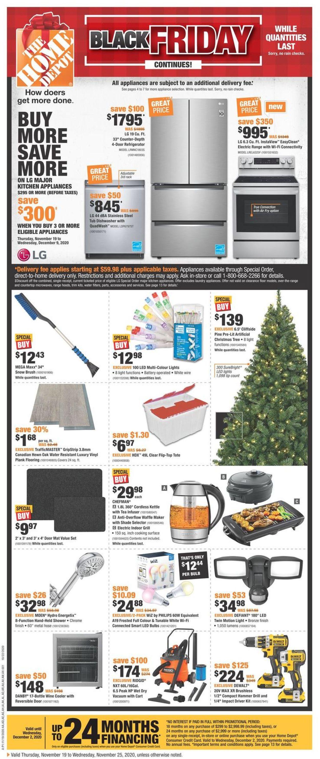 Home Depot - Black Friday 2020 Flyer - 11/19-11/25/2020