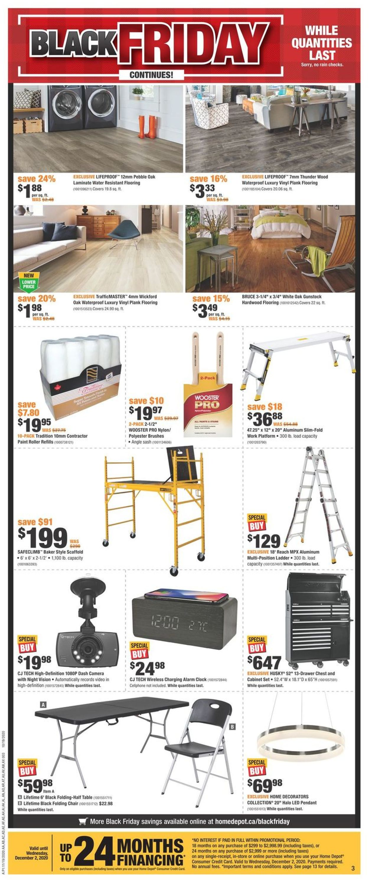 Home Depot - Black Friday 2020 Flyer - 11/19-11/25/2020 (Page 3)