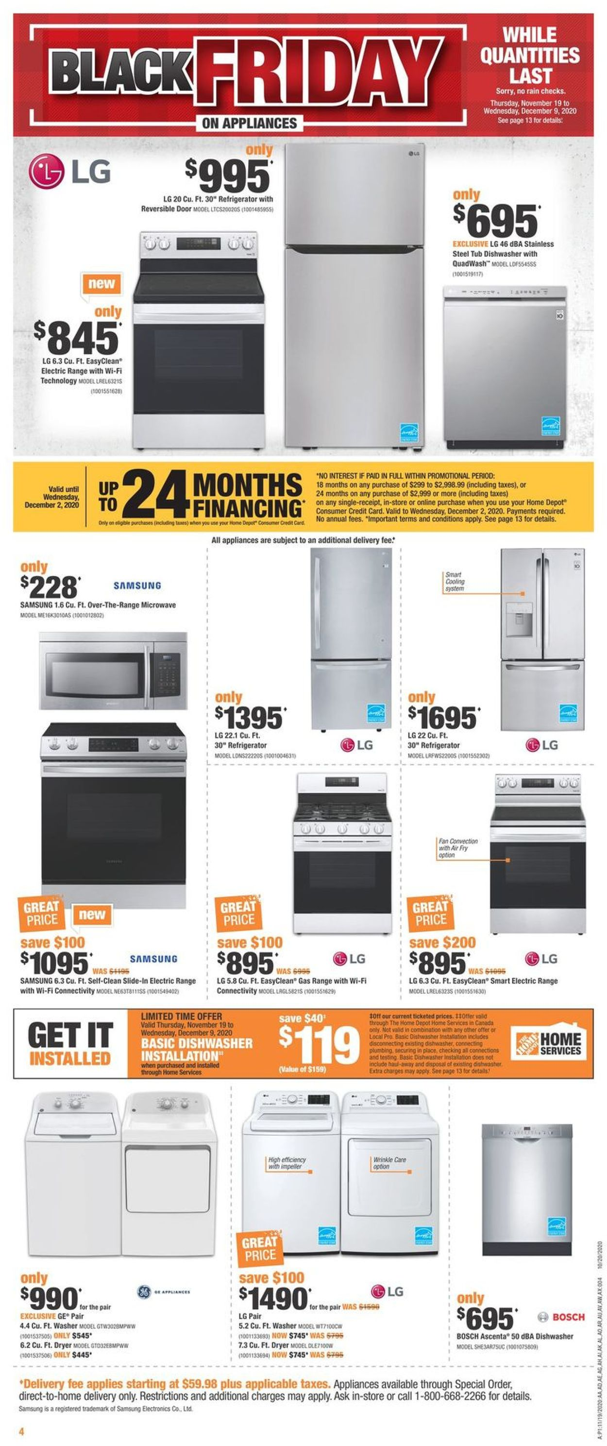 Home Depot - Black Friday 2020 Flyer - 11/19-11/25/2020 (Page 4)