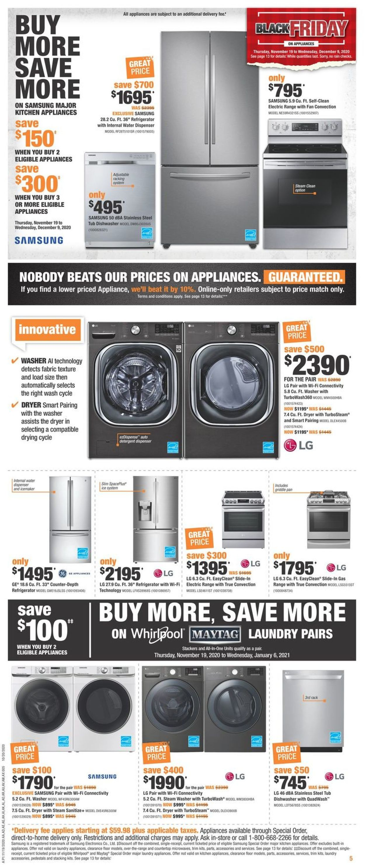 Home Depot - Black Friday 2020 Flyer - 11/19-11/25/2020 (Page 5)