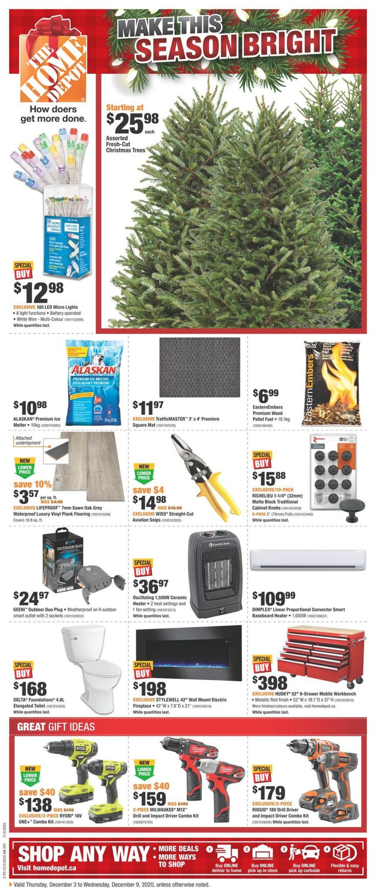 Home Depot - Holiday 2020 Flyer - 12/03-12/09/2020