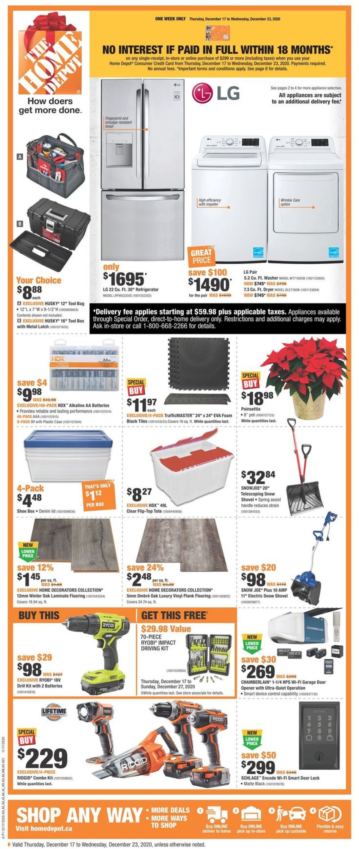 Home Depot - Holiday 2020 Flyer - 12/17-12/23/2020