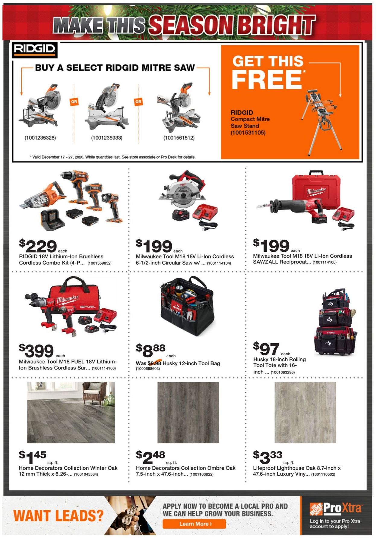 Home Depot - Holiday 2020 Flyer - 12/17-12/27/2020