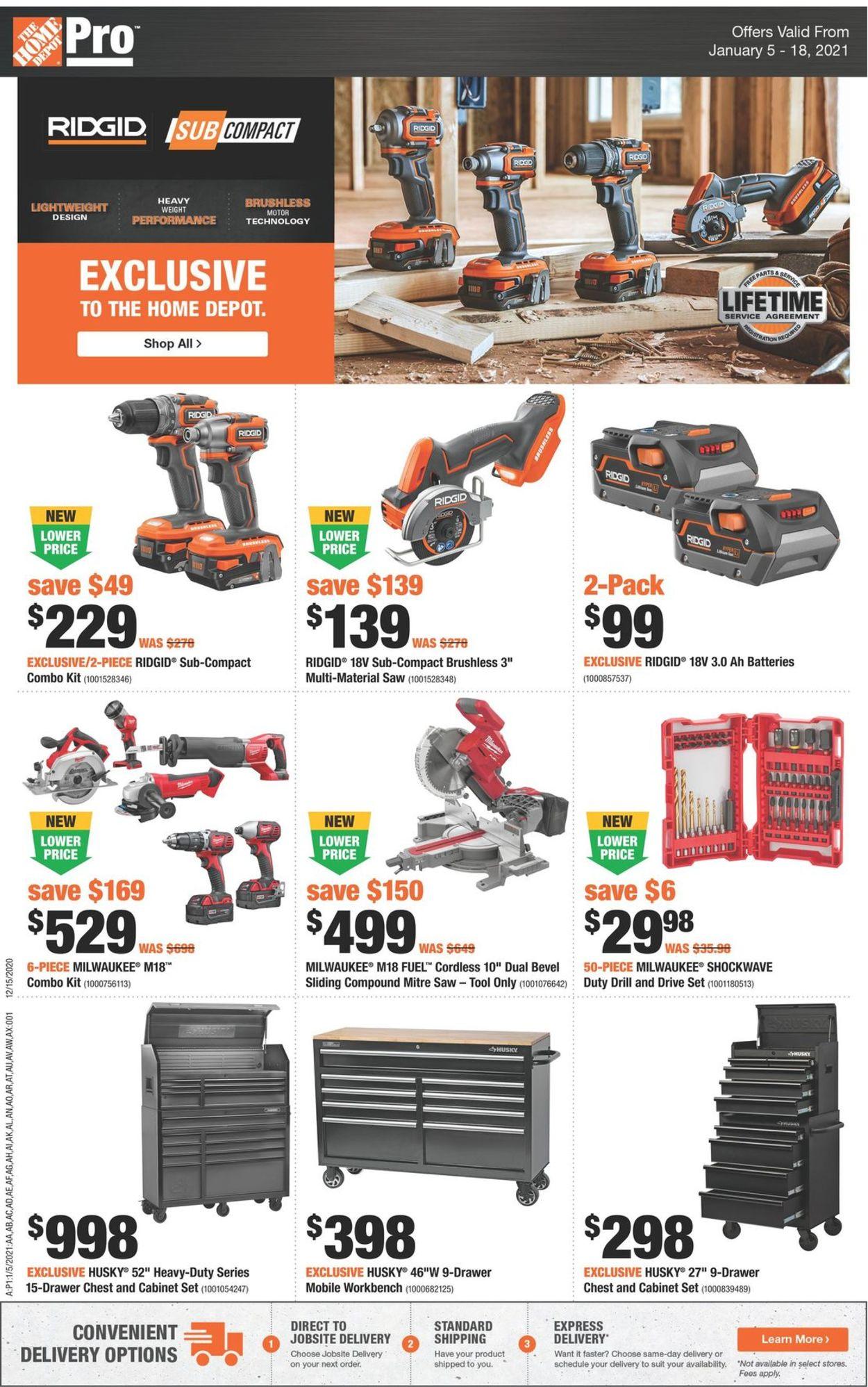 Home Depot Flyer - 01/05-01/18/2021