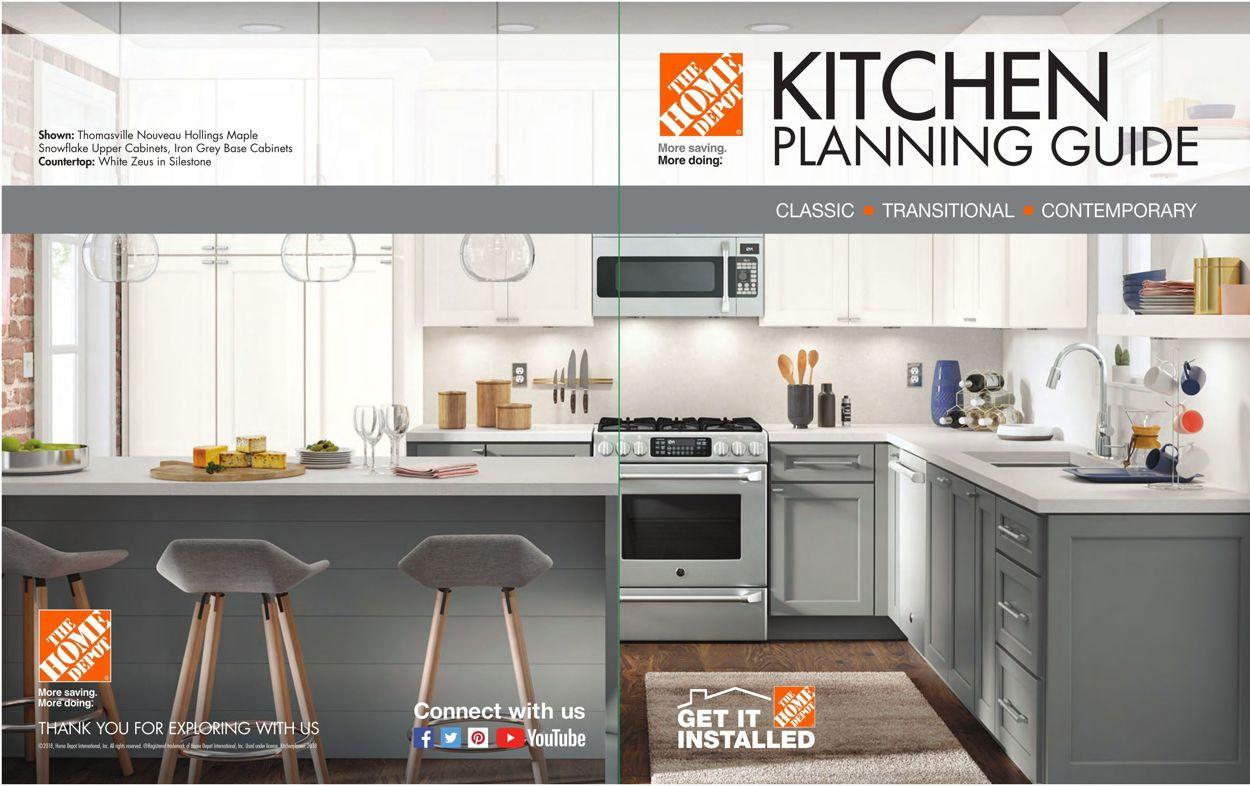 Home Depot - Kitchen Planning Guide Flyer - 01/01-12/31/2021
