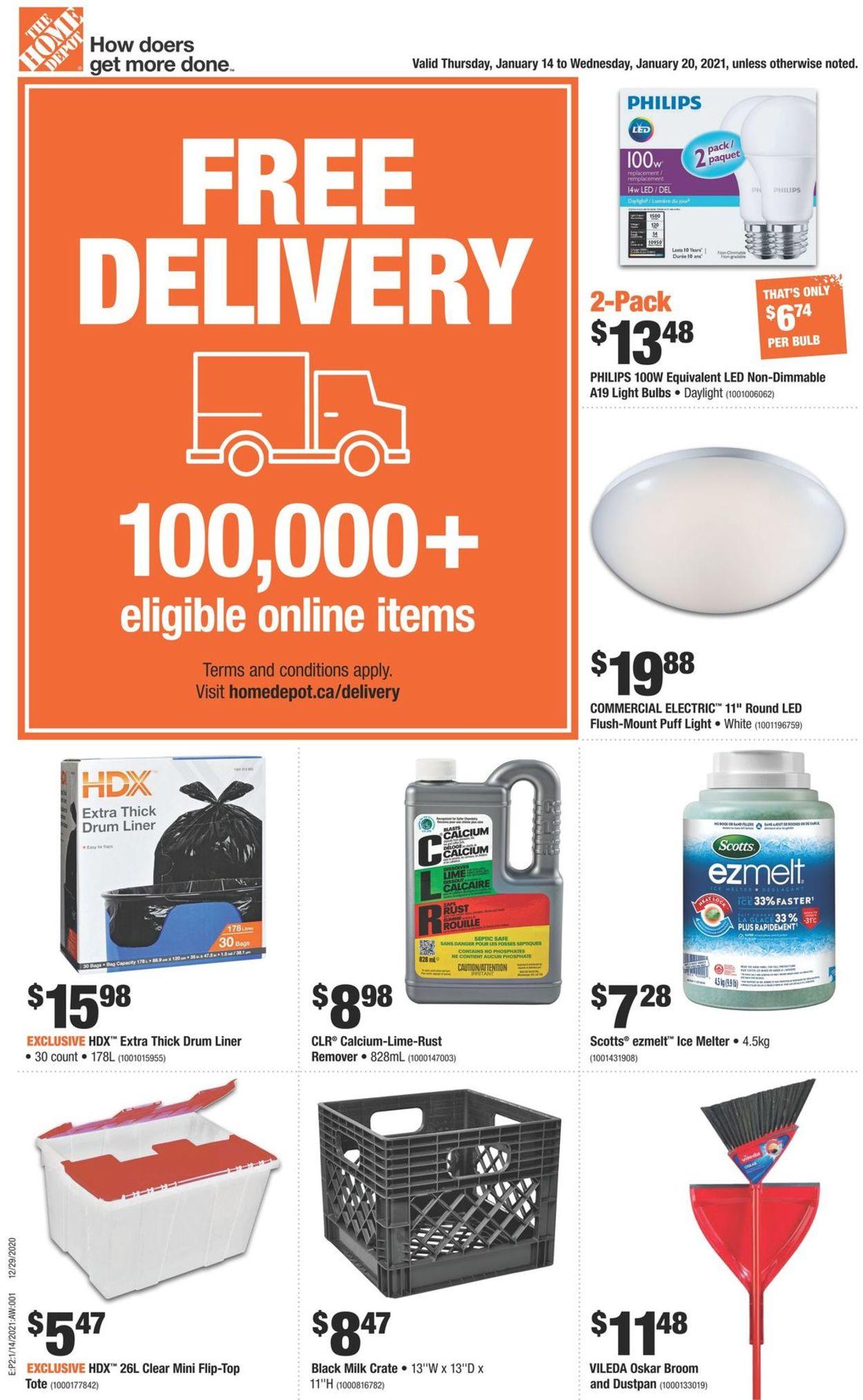 Home Depot Flyer - 01/14-01/20/2021