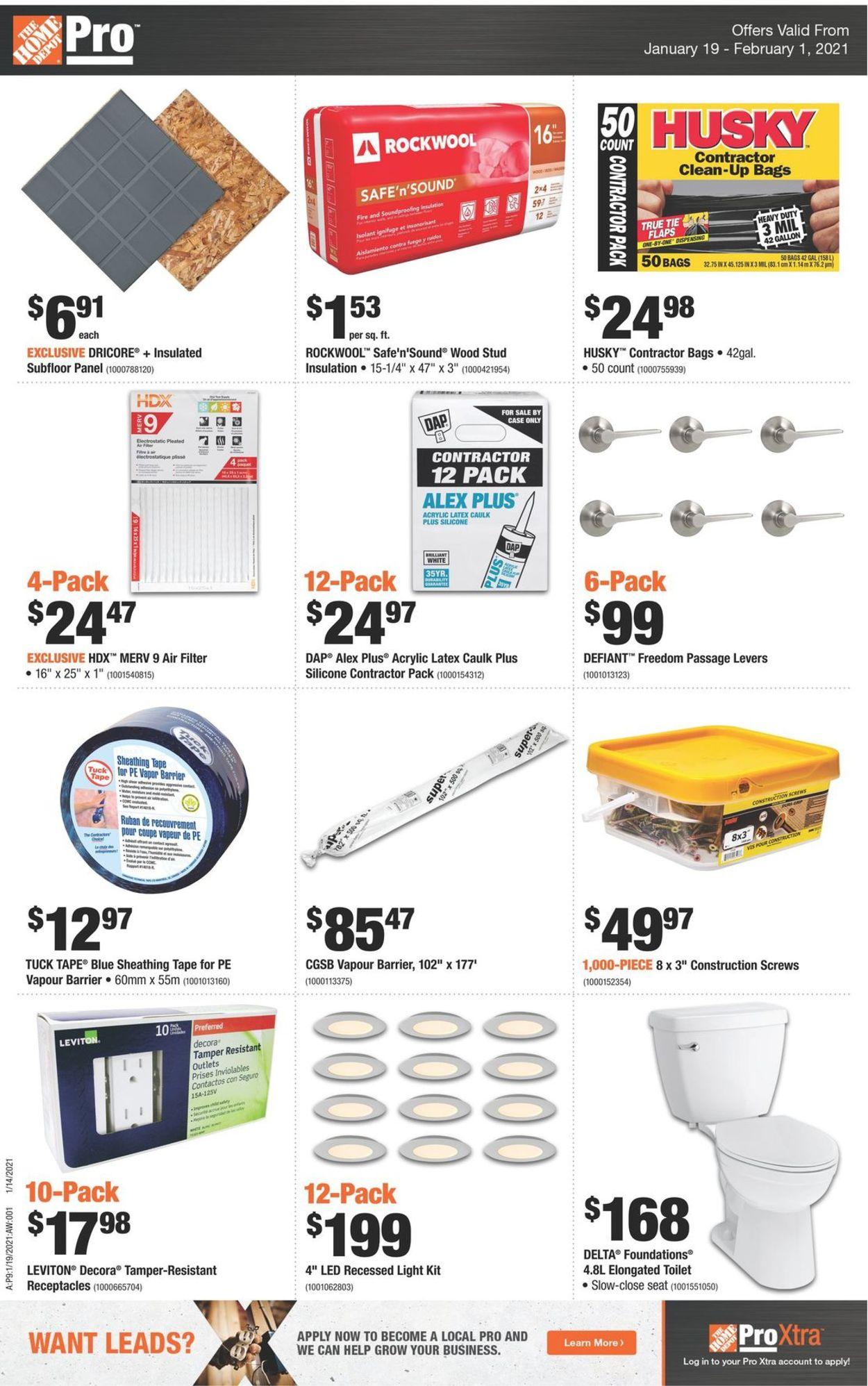 Home Depot Flyer - 01/19-02/01/2021