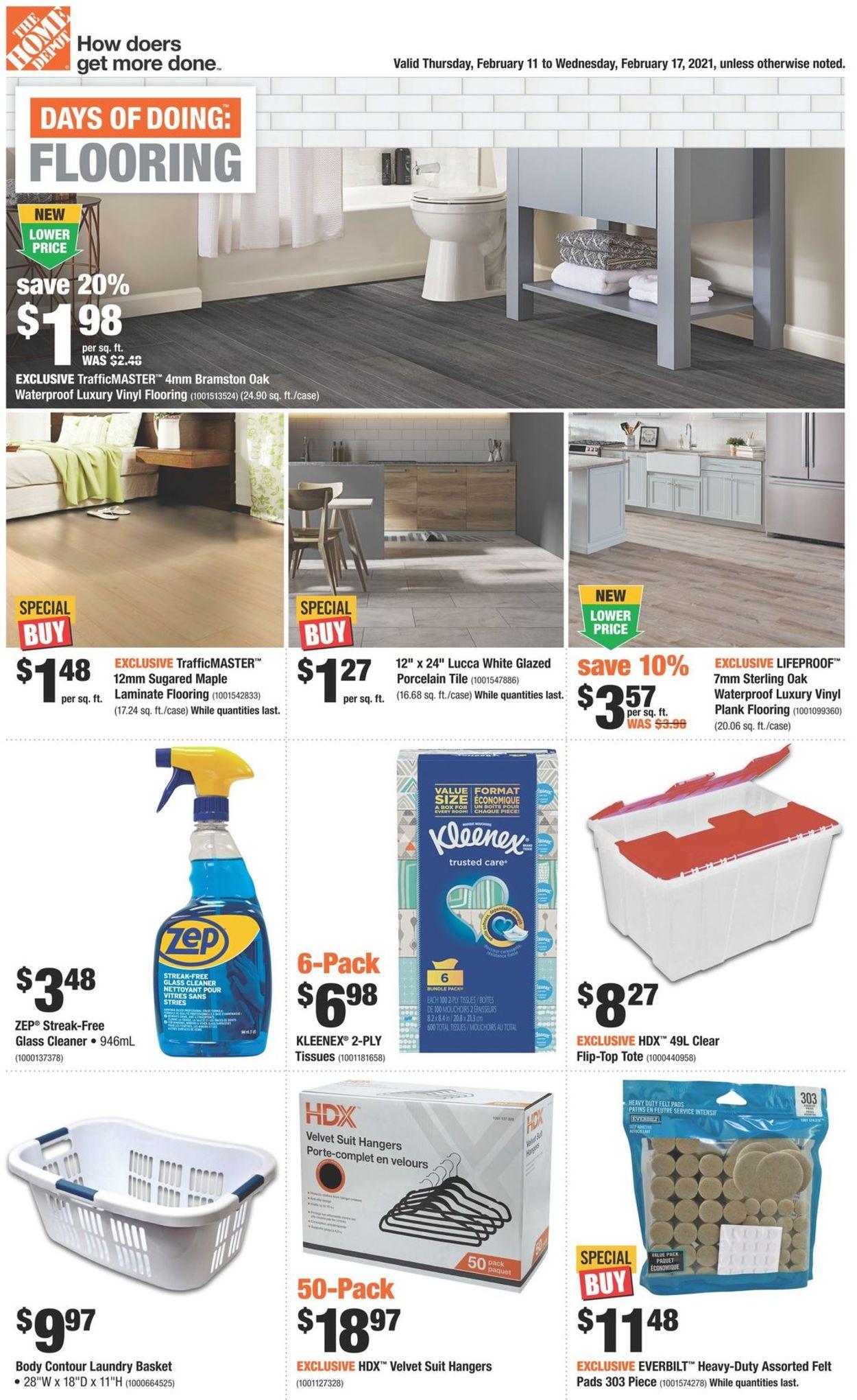 Home Depot Flyer - 02/11-02/17/2021