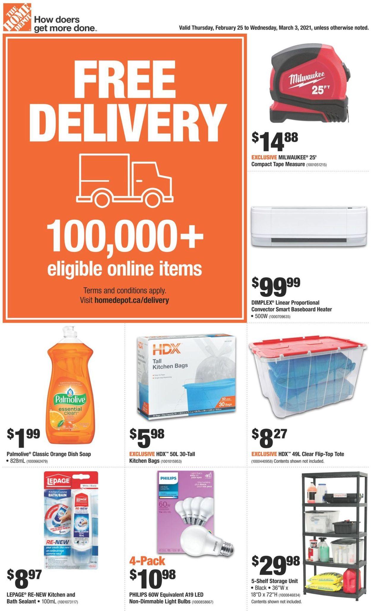 Home Depot Flyer - 02/25-03/03/2021