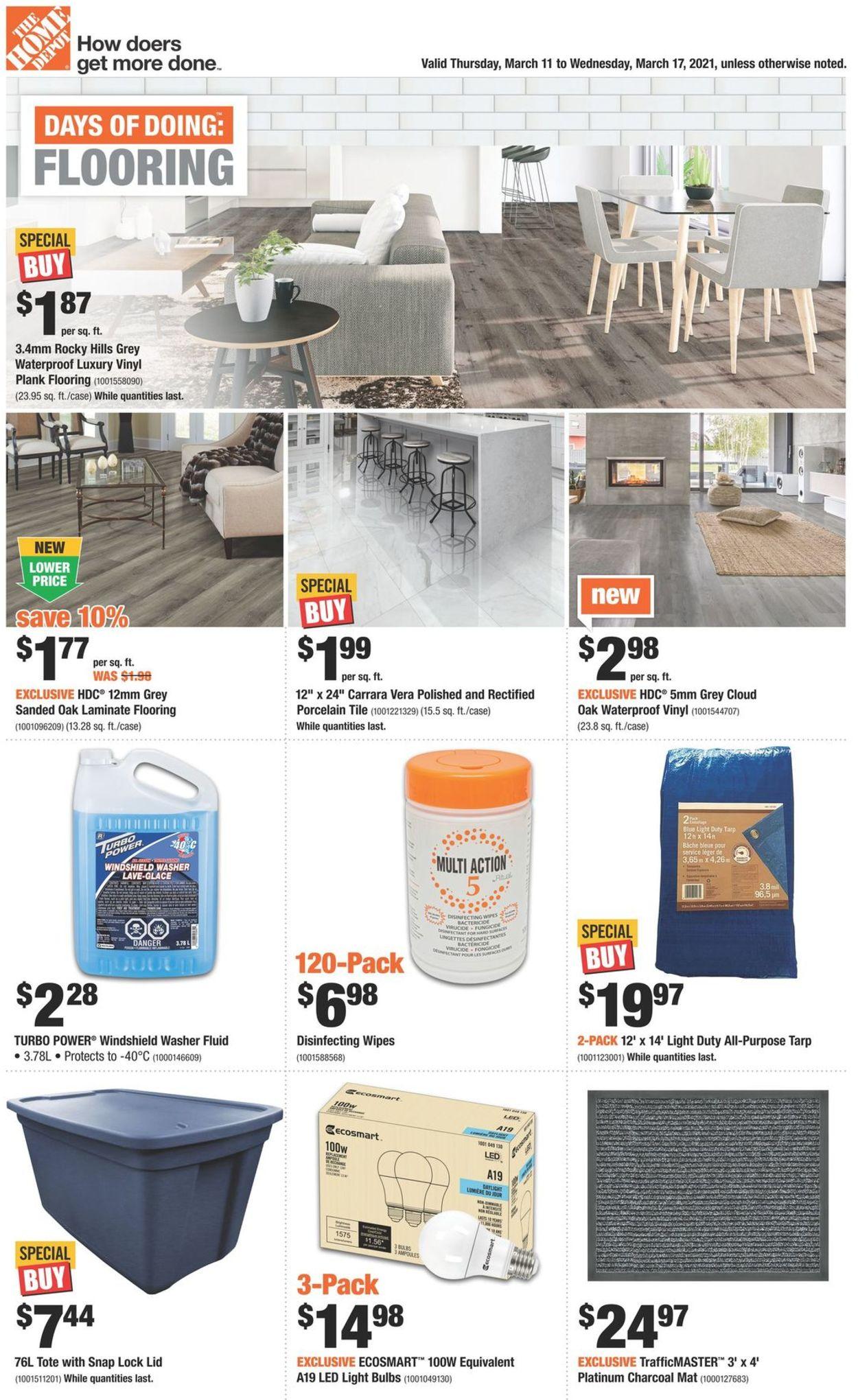 Home Depot Flyer - 03/11-03/17/2021