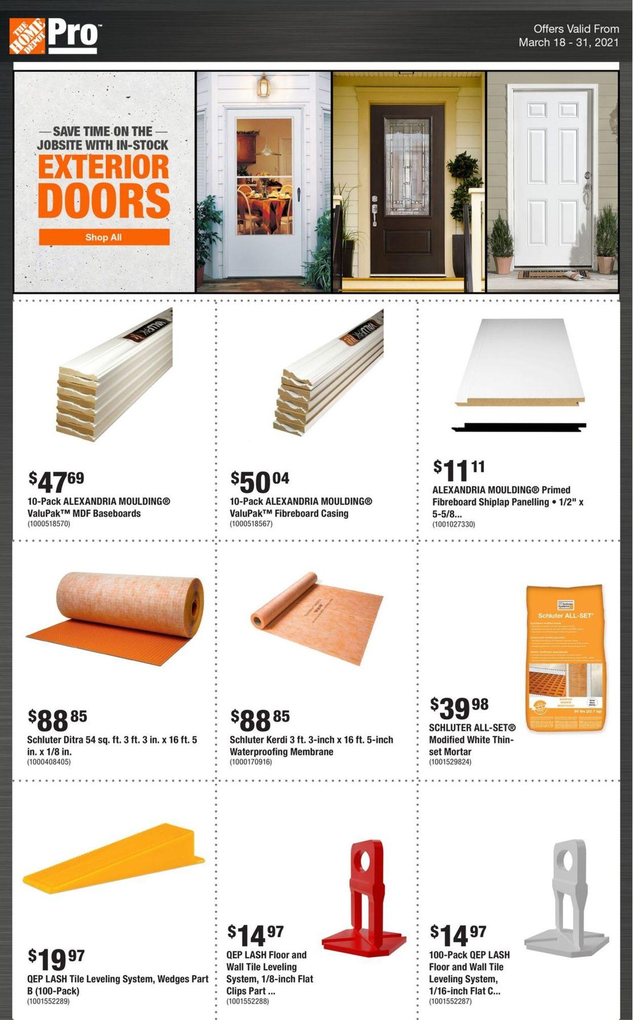 Home Depot Flyer - 03/18-03/31/2021