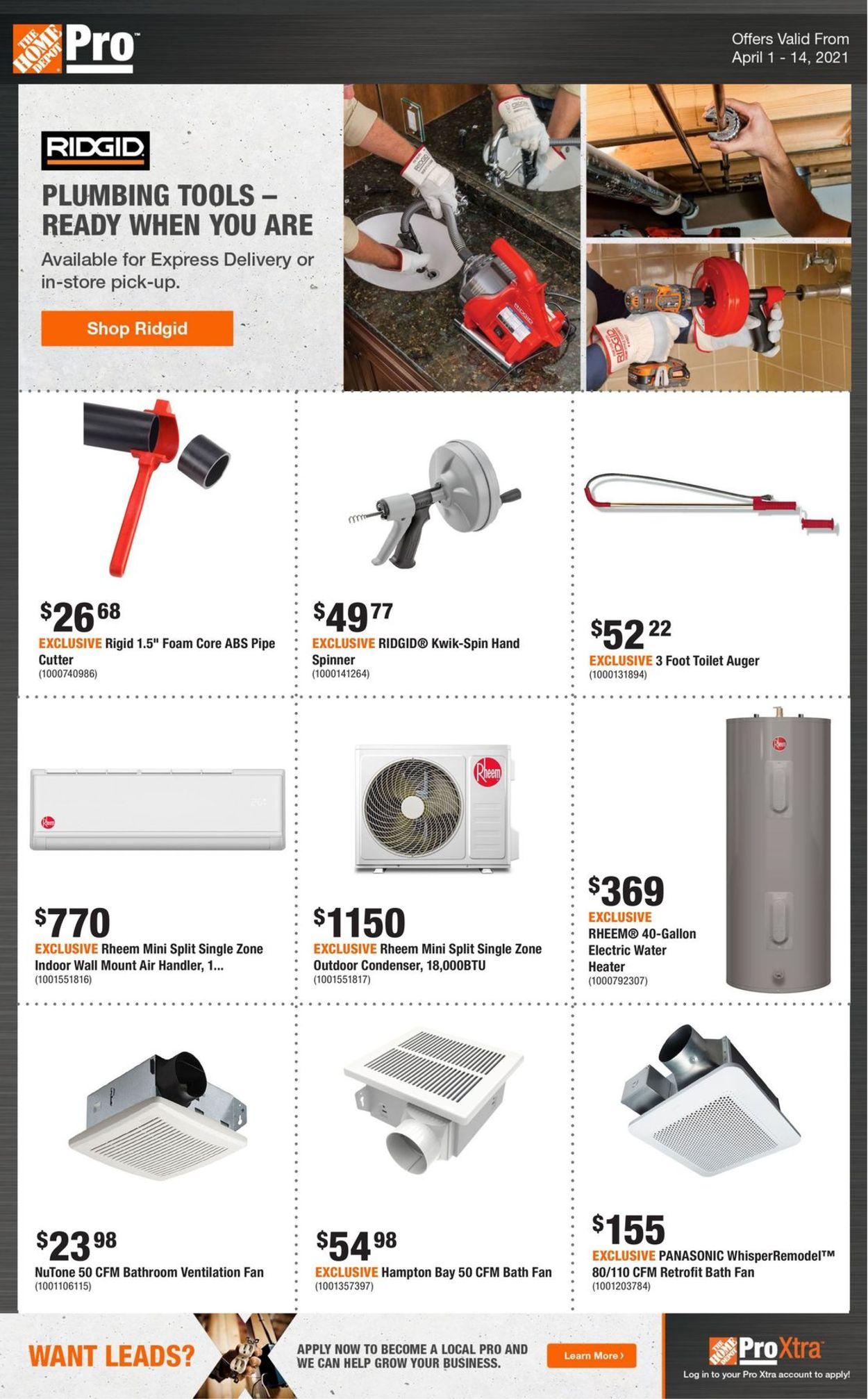 Home Depot Flyer - 04/01-04/14/2021