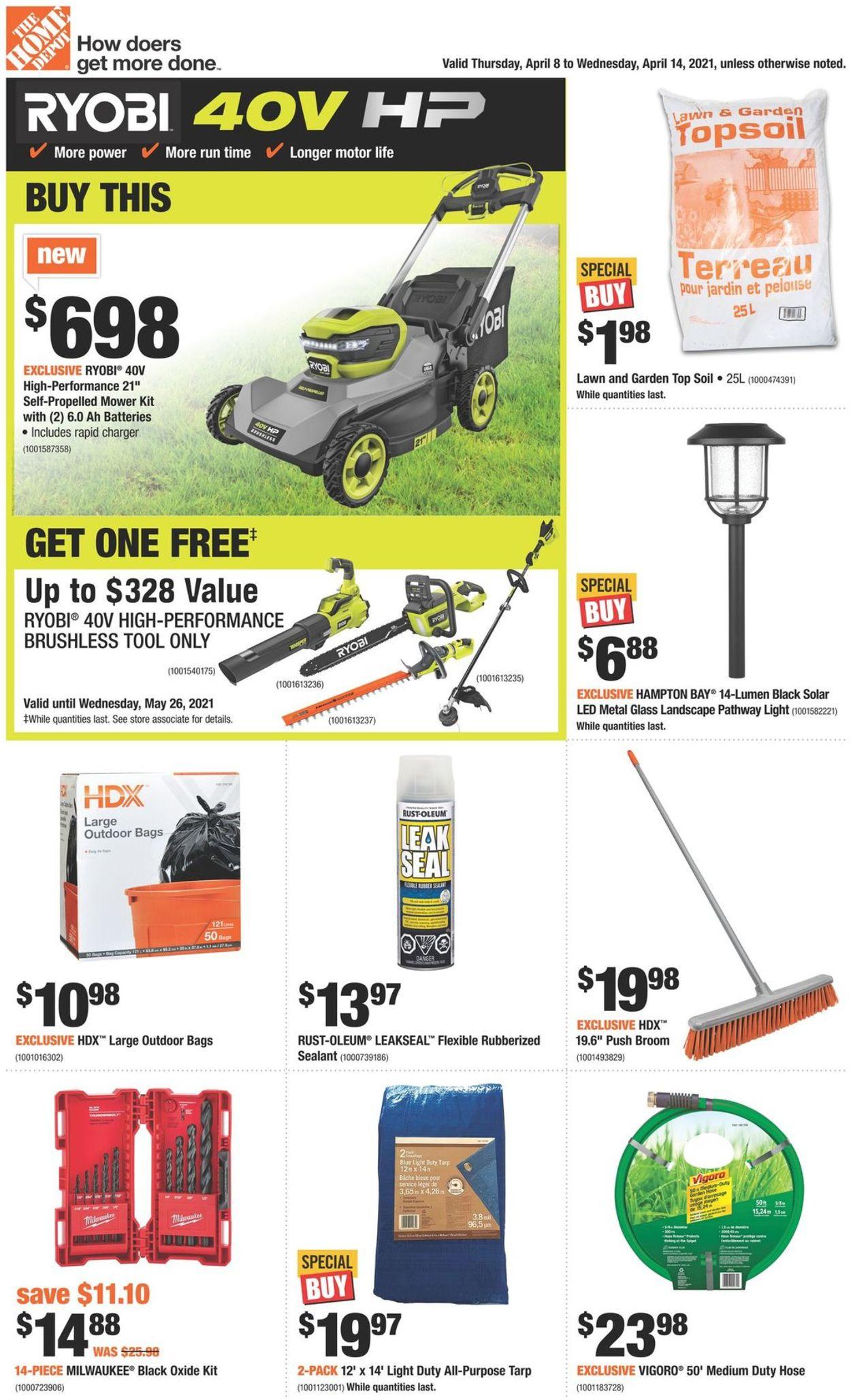 Home Depot Flyer - 04/08-04/14/2021