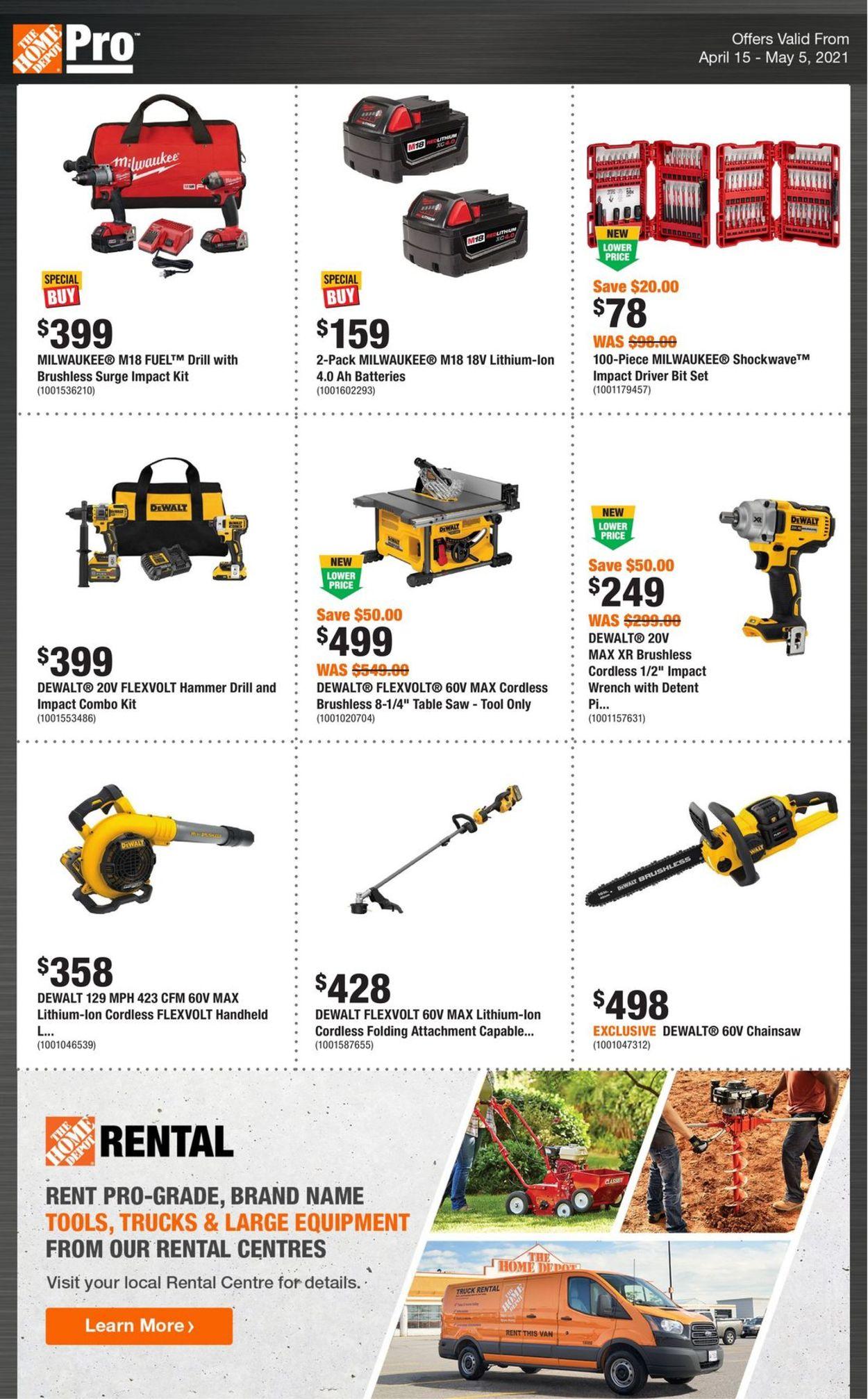 Home Depot Flyer - 04/15-05/05/2021