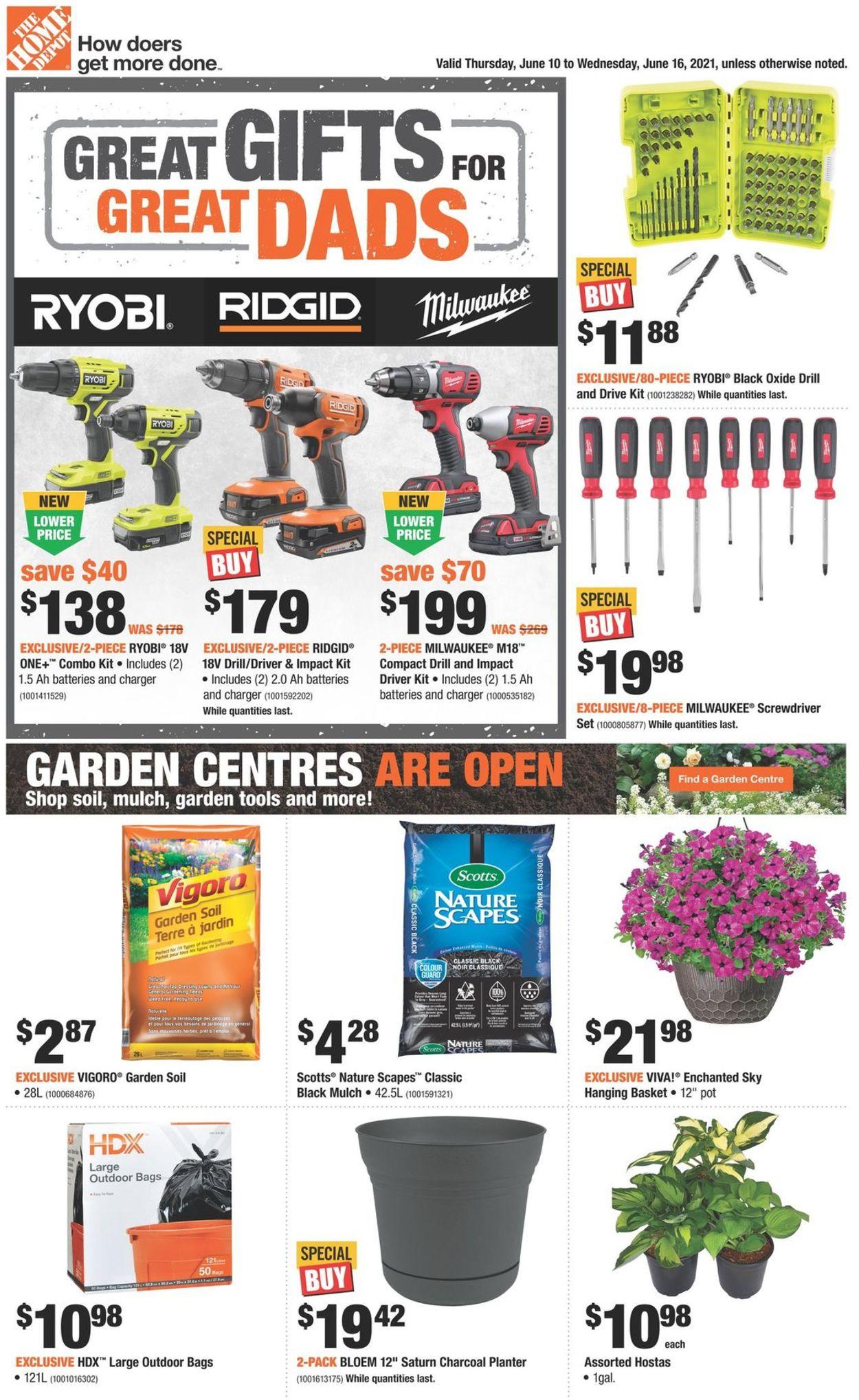 Home Depot Flyer - 06/10-06/16/2021