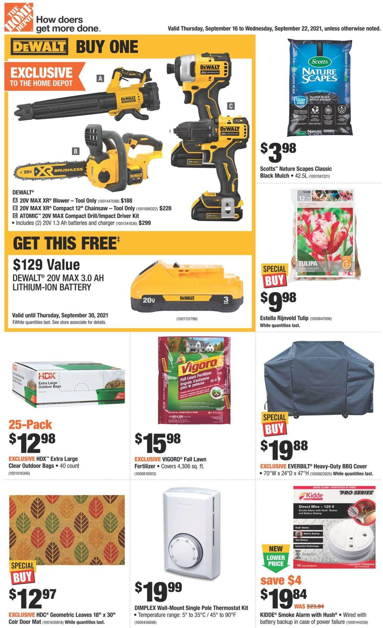 Home Depot Flyer - 09/16-09/22/2021