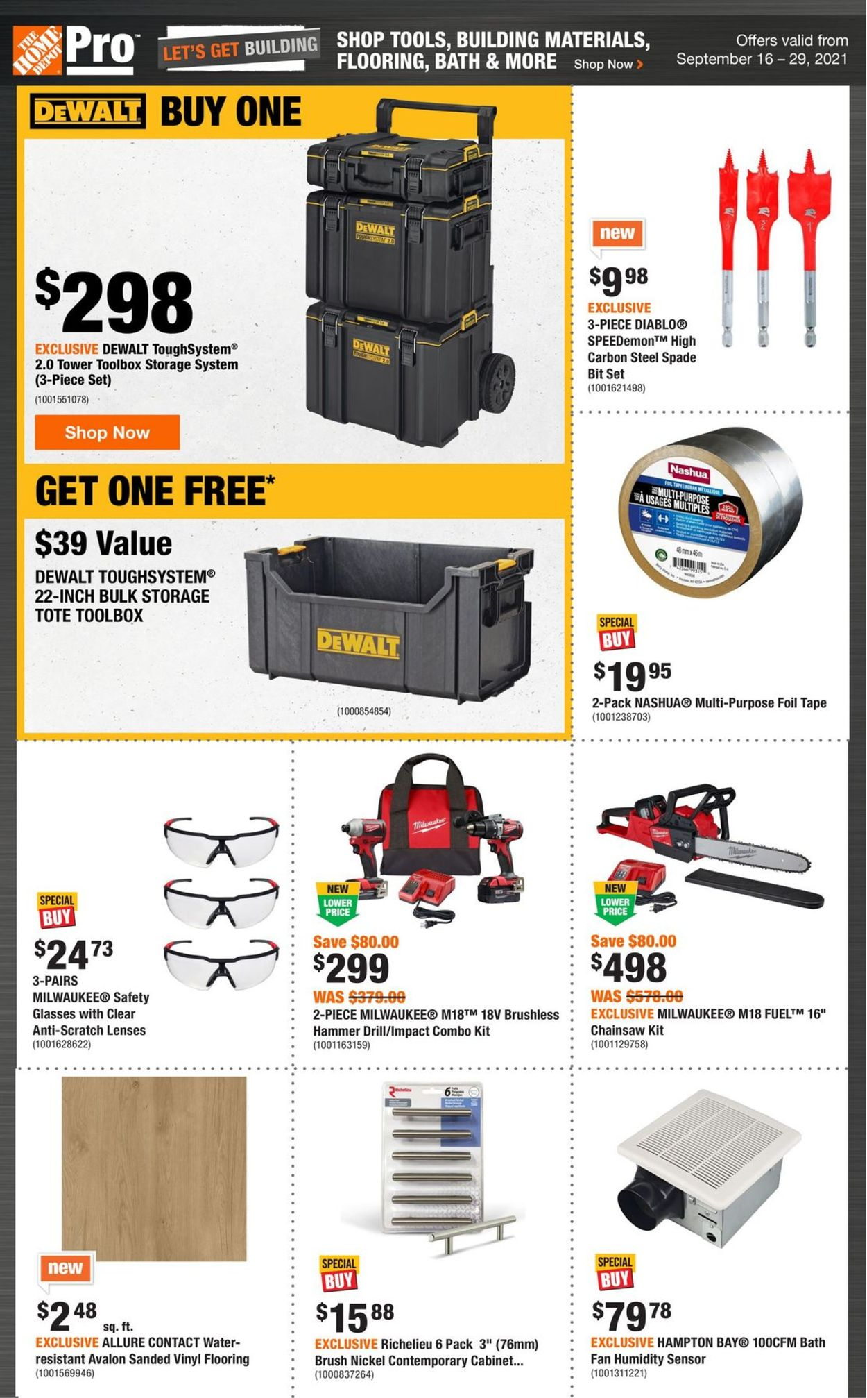 Home Depot Flyer - 09/16-09/29/2021