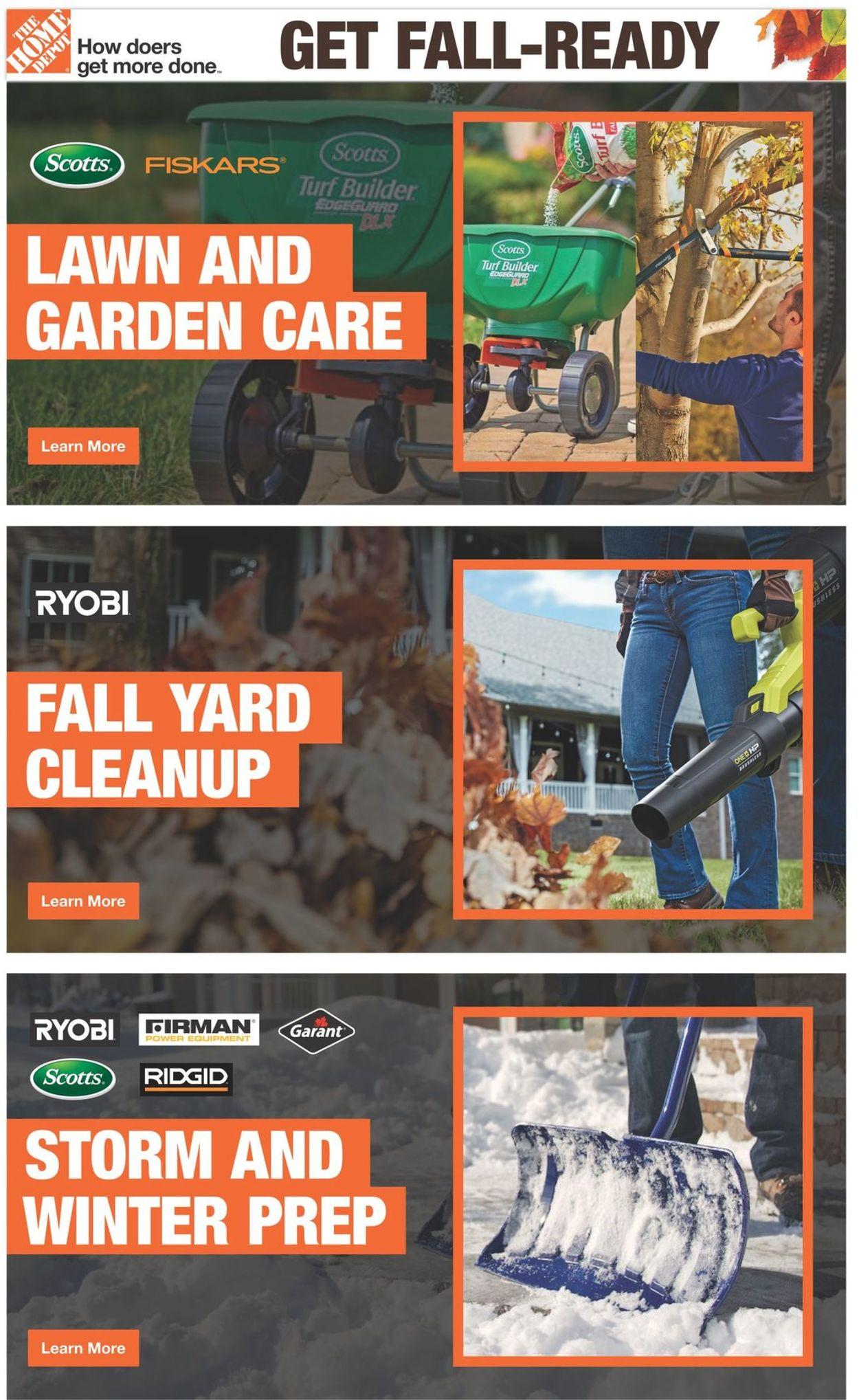 Home Depot Flyer - 09/09-10/20/2021