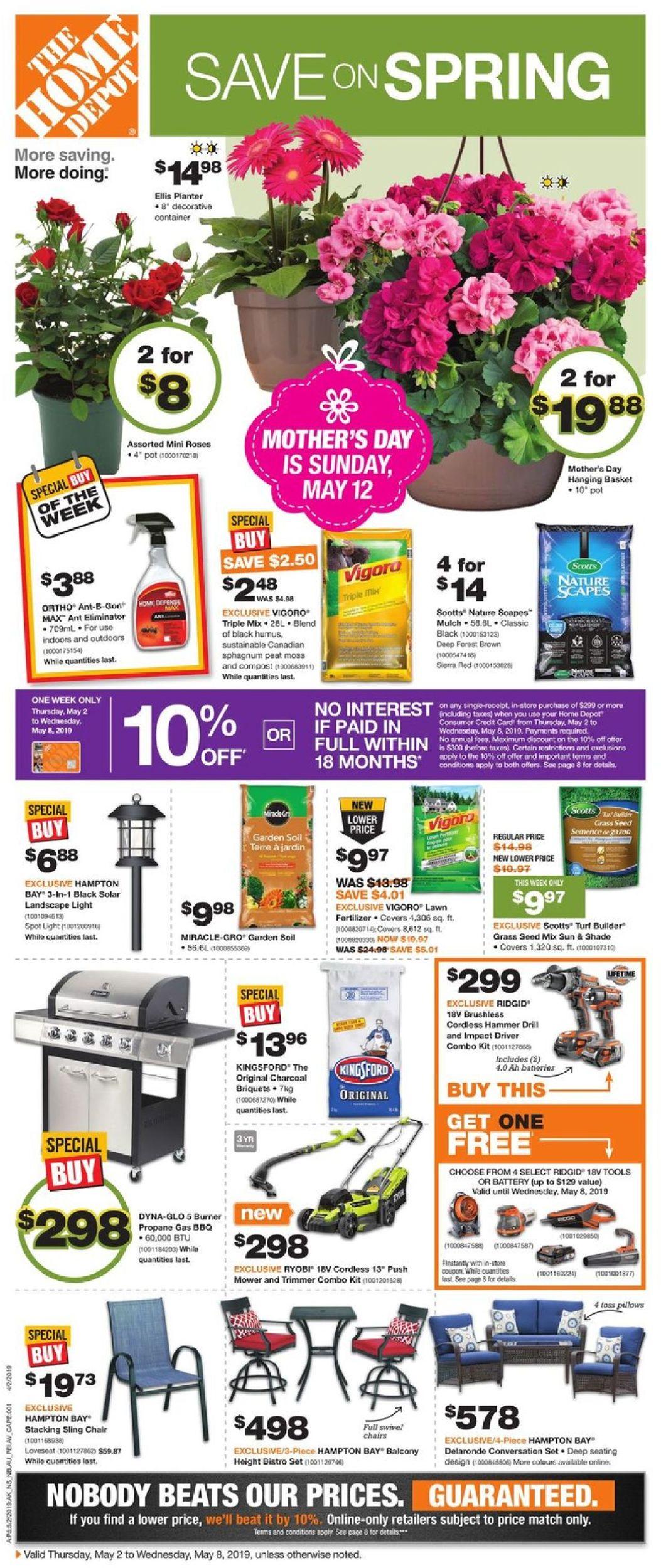 Home Depot Flyer - 05/02-05/08/2019