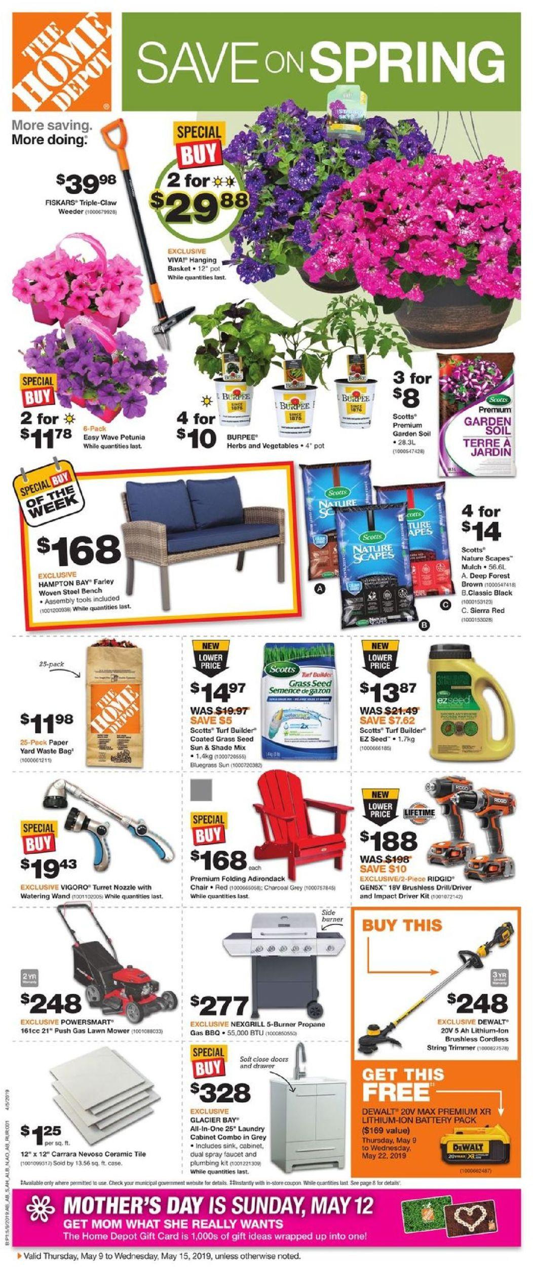 Home Depot Flyer - 05/09-05/15/2019