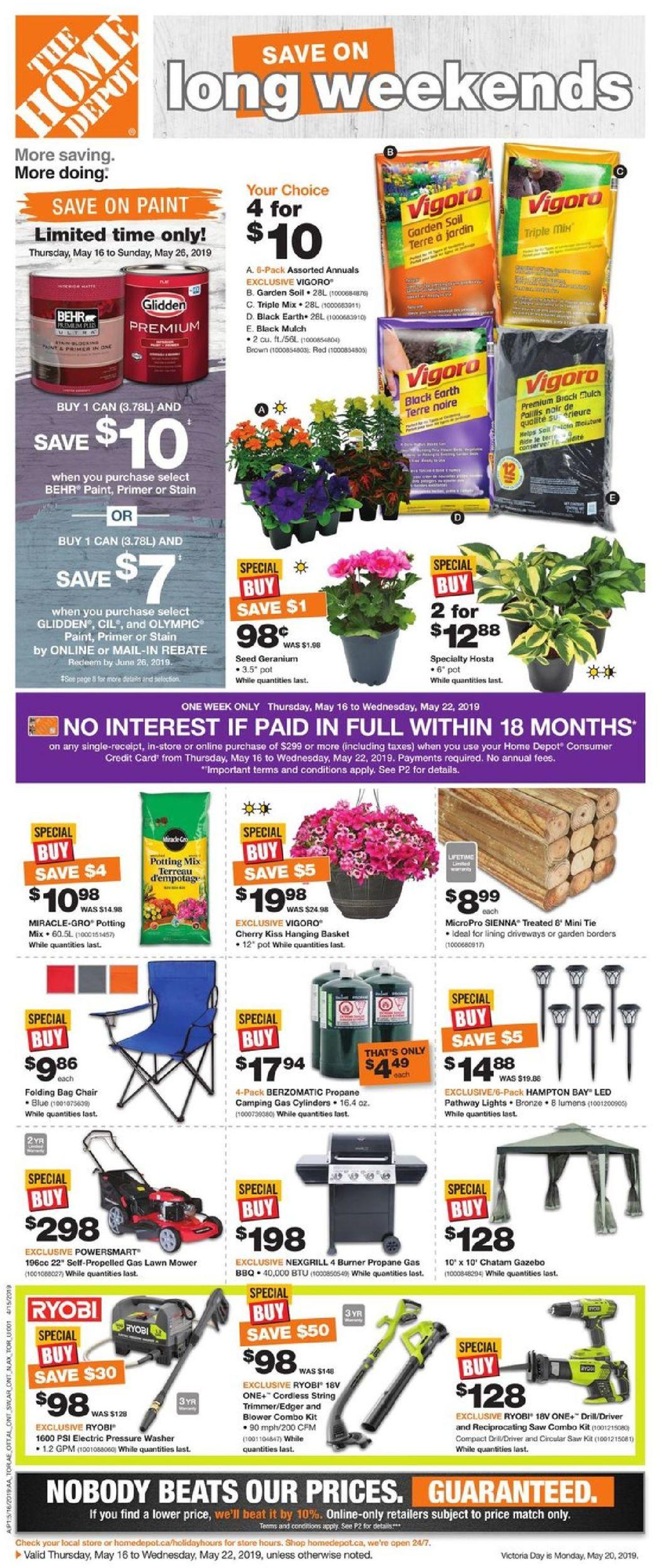 Home Depot Flyer - 05/16-05/22/2019