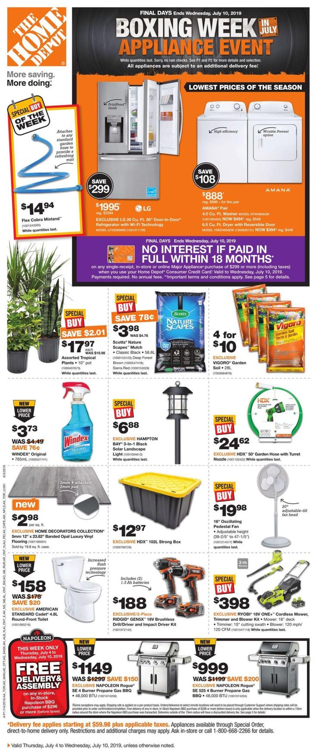 Home Depot Flyer - 07/04-07/10/2019