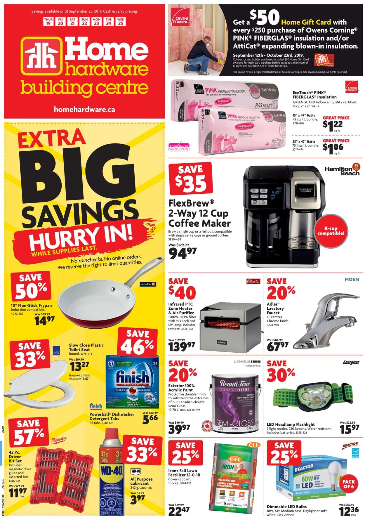 Home Hardware Flyer - 09/19-09/25/2019