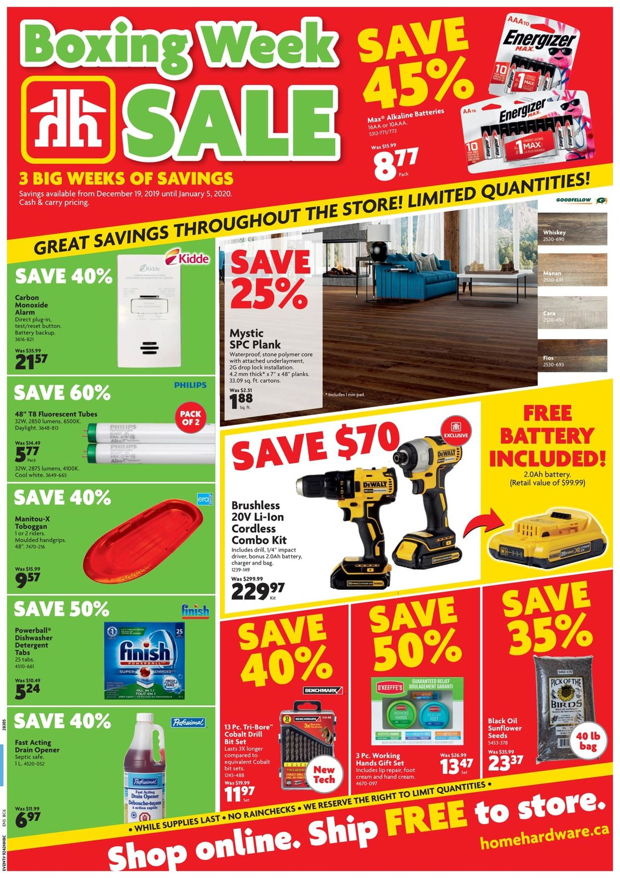 Home Hardware - Boxing Week 2019 Sale Flyer - 12/19-01/05/2020