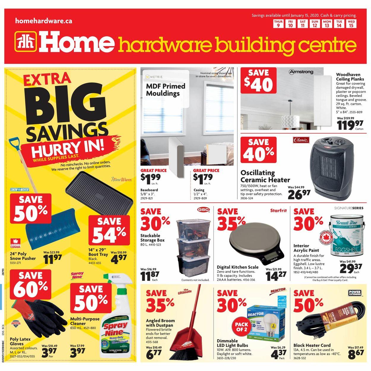 Home Hardware Flyer - 01/09-01/15/2020