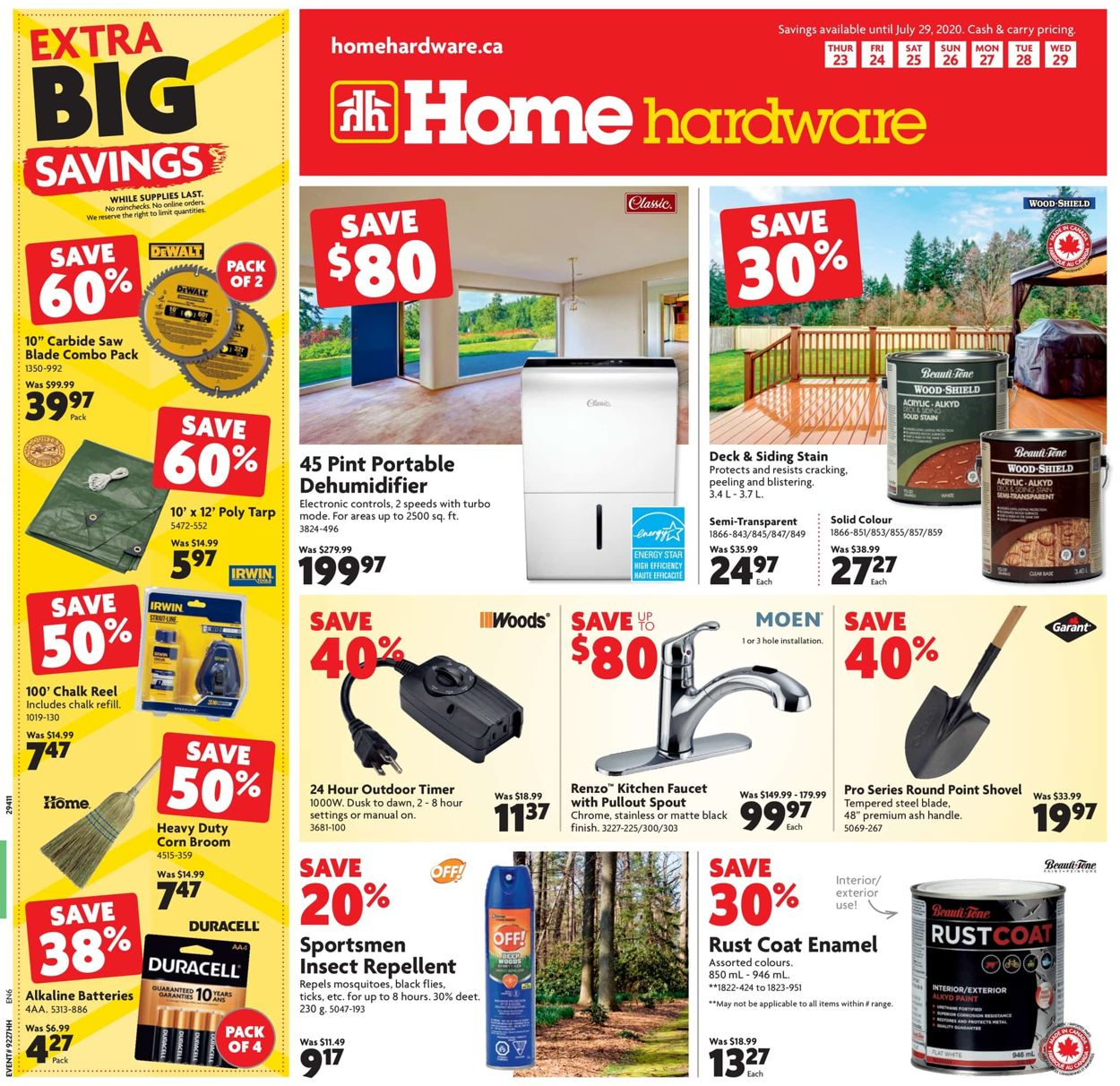 Home Hardware Flyer - 07/23-07/29/2020