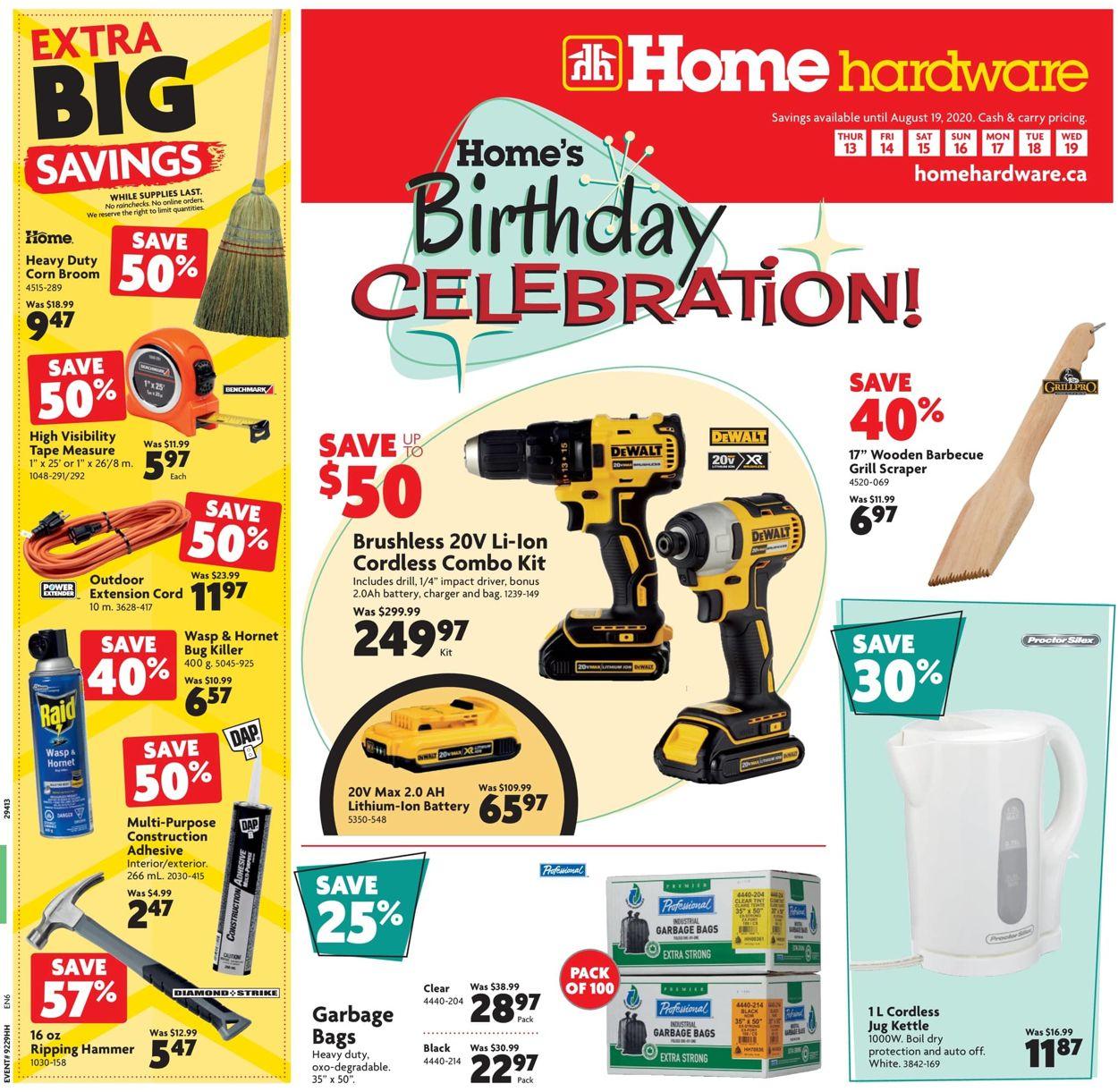 Home Hardware Flyer - 08/13-08/19/2020