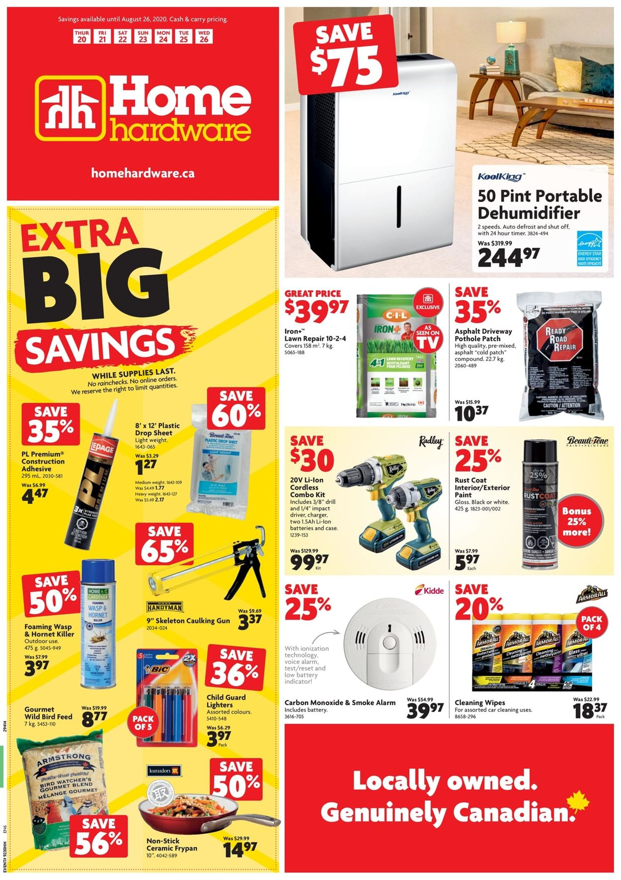 Home Hardware Flyer - 08/20-08/26/2020