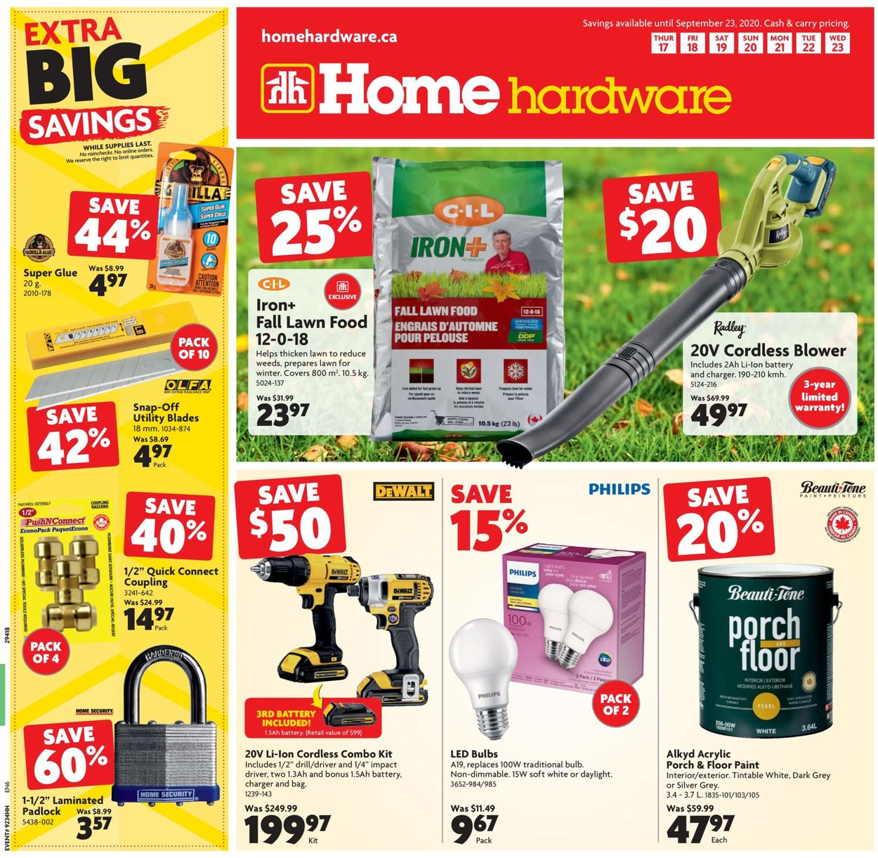 Home Hardware Flyer - 09/17-09/23/2020