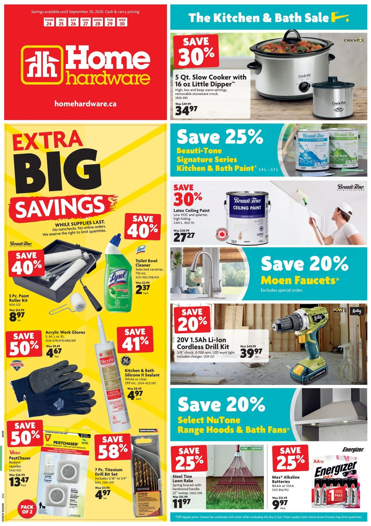 Home Hardware Flyer - 09/24-09/30/2020