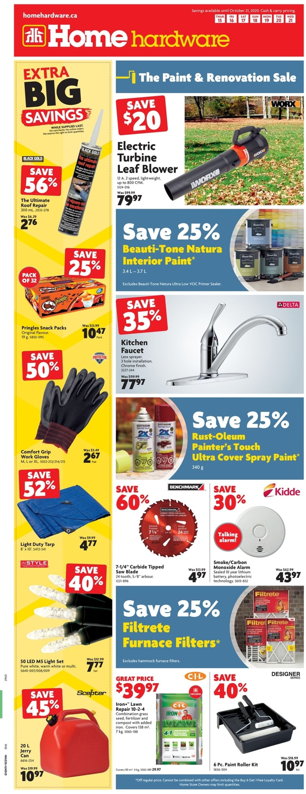 Home Hardware Flyer - 10/15-10/21/2020