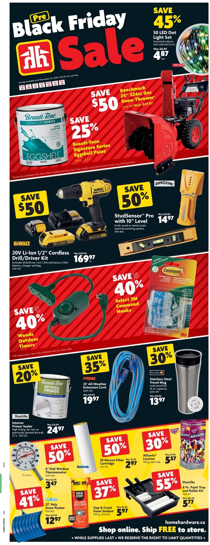 Home Hardware - Black Friday 2020 Flyer - 11/19-11/25/2020