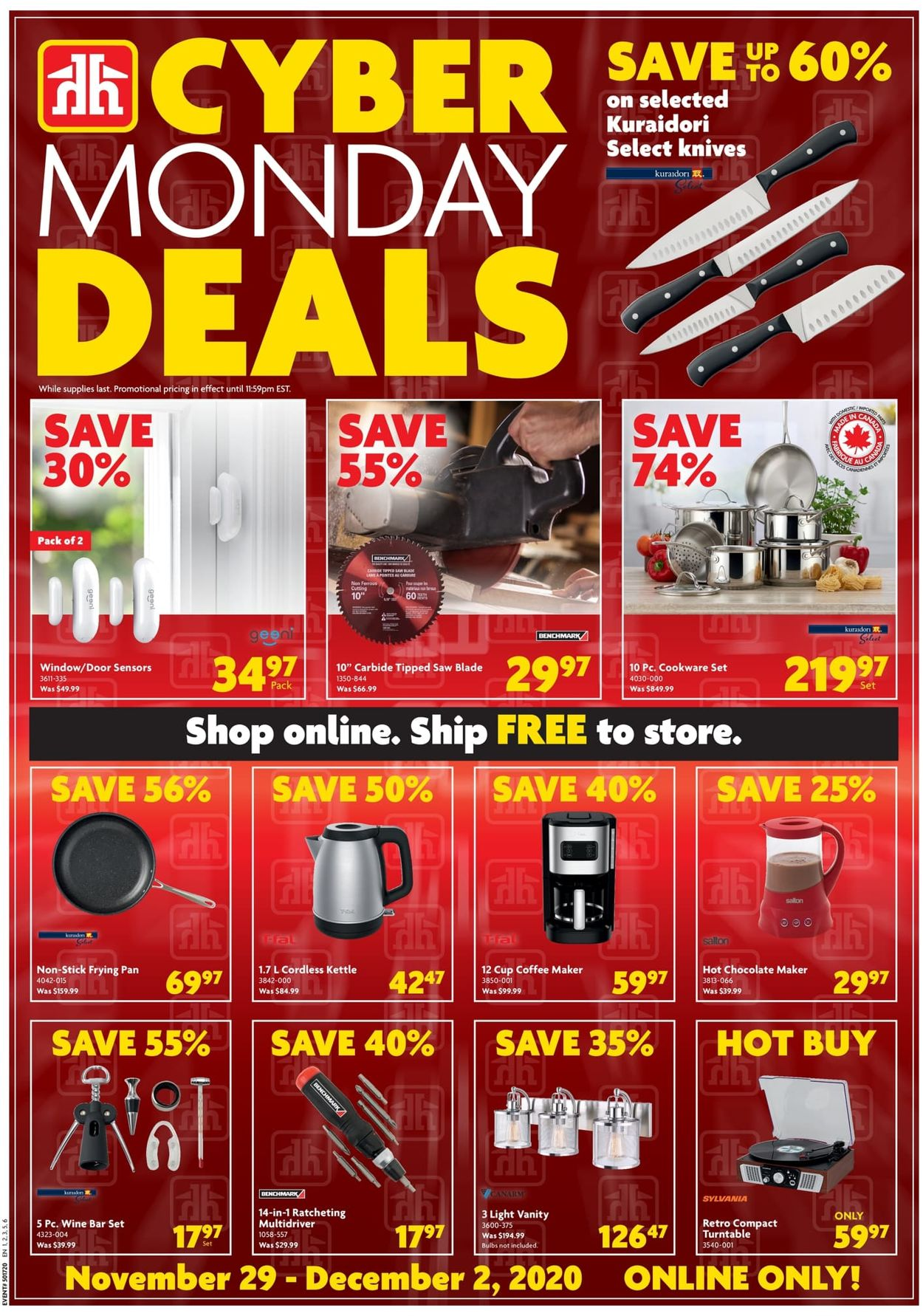Home Hardware - Cyber Monday 2020 Flyer - 11/29-12/02/2020
