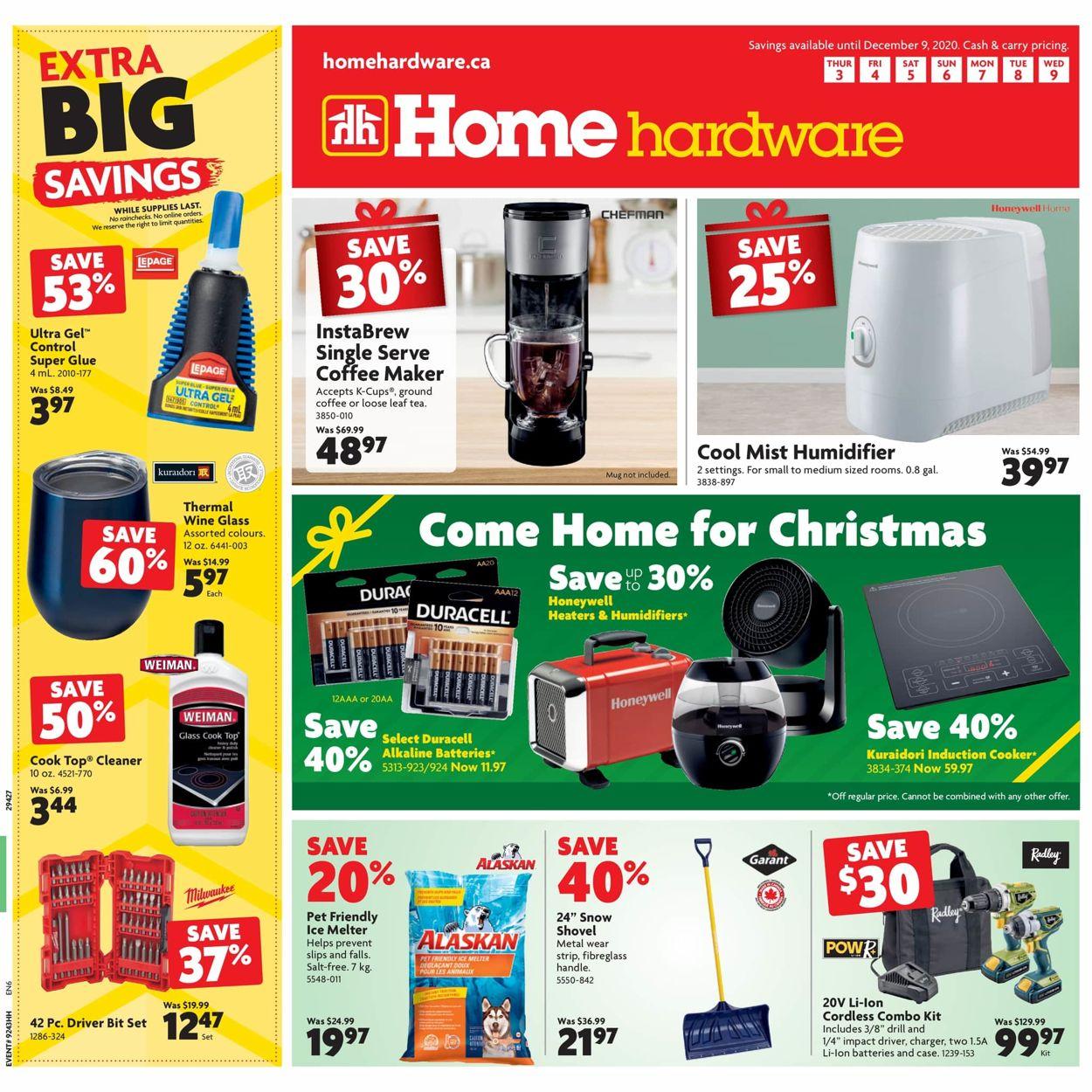 Home Hardware - Christmas 2020 Flyer - 12/03-12/09/2020