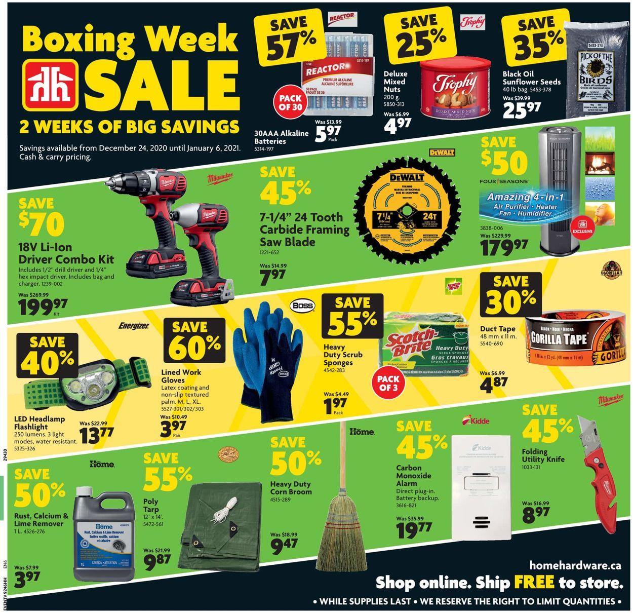 Home Hardware Boxing Week Sale Flyer - 12/24-01/06/2021