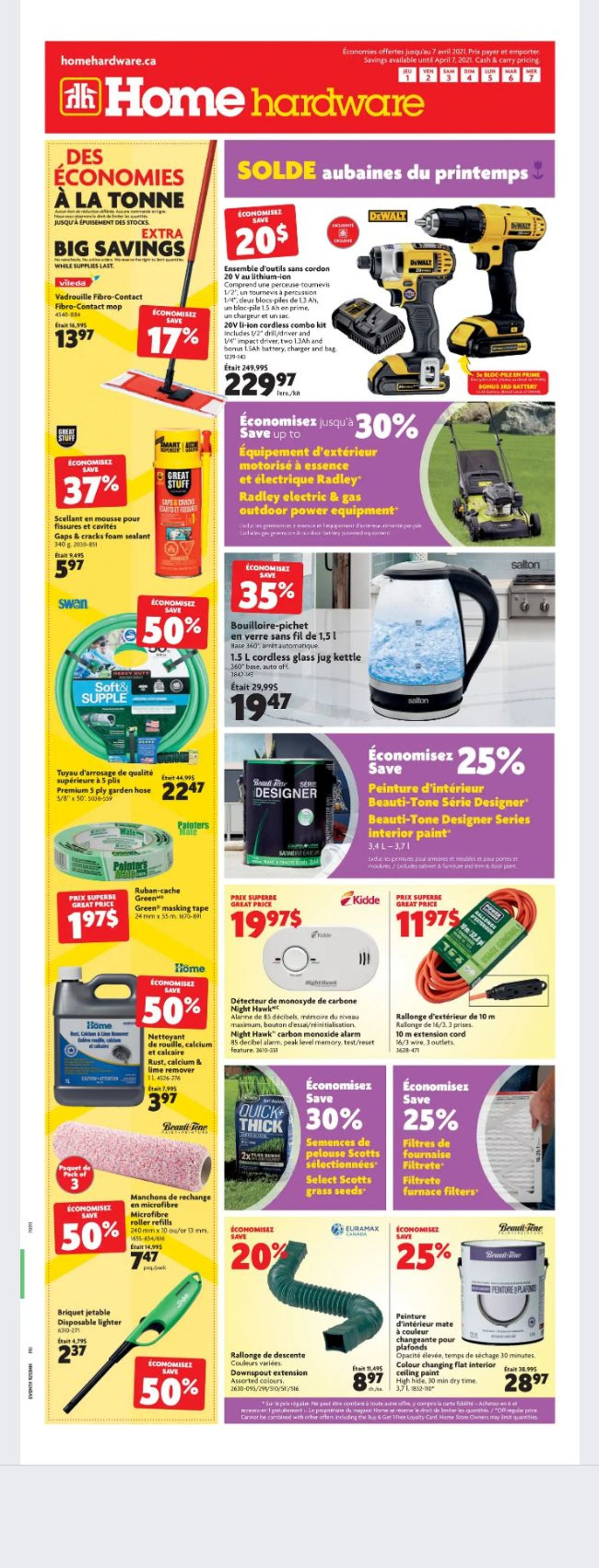 Home Hardware Flyer - 04/01-04/07/2021