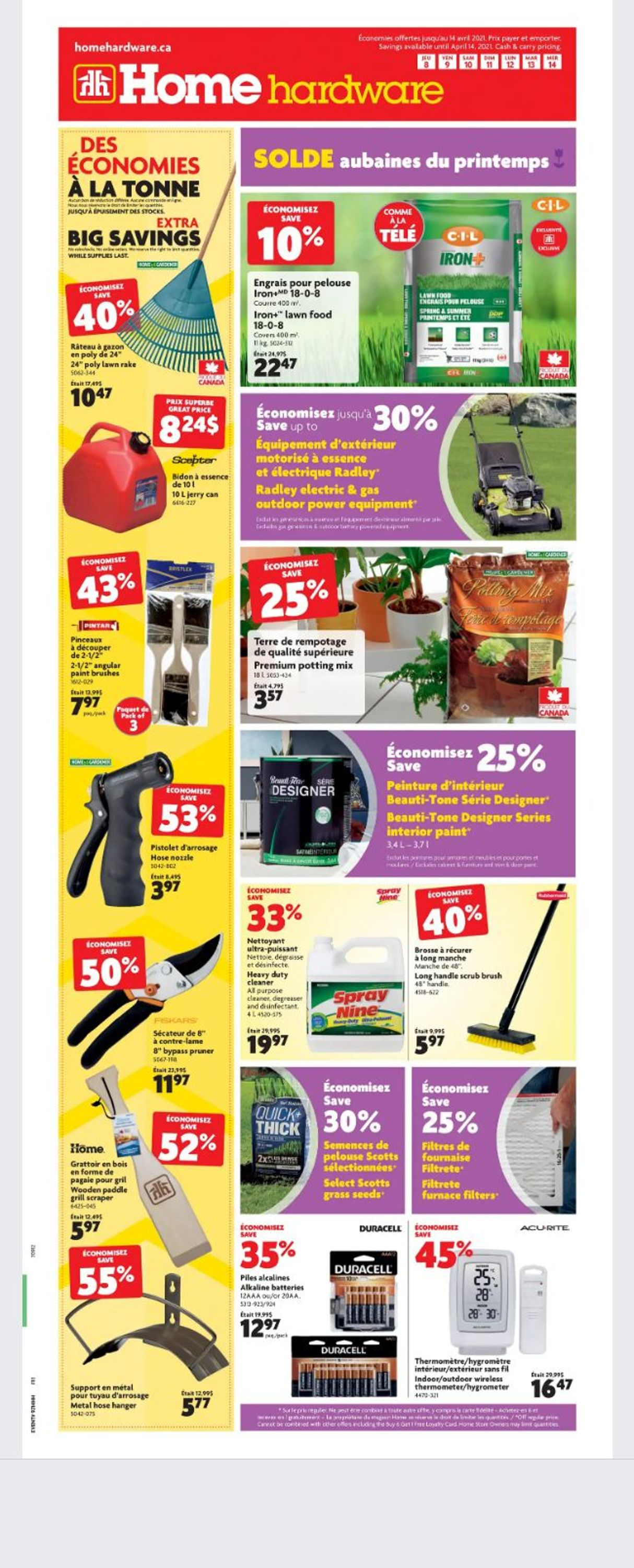 Home Hardware Flyer - 04/08-04/14/2021