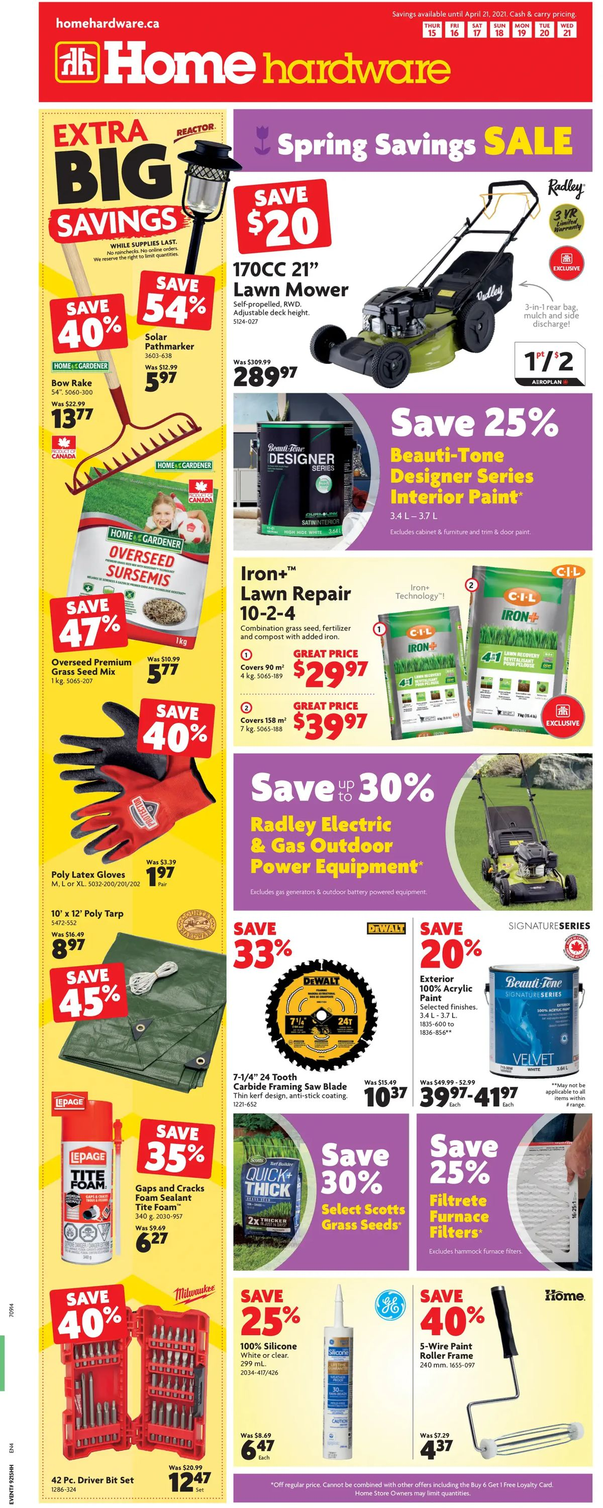 Home Hardware Flyer - 04/15-04/21/2021