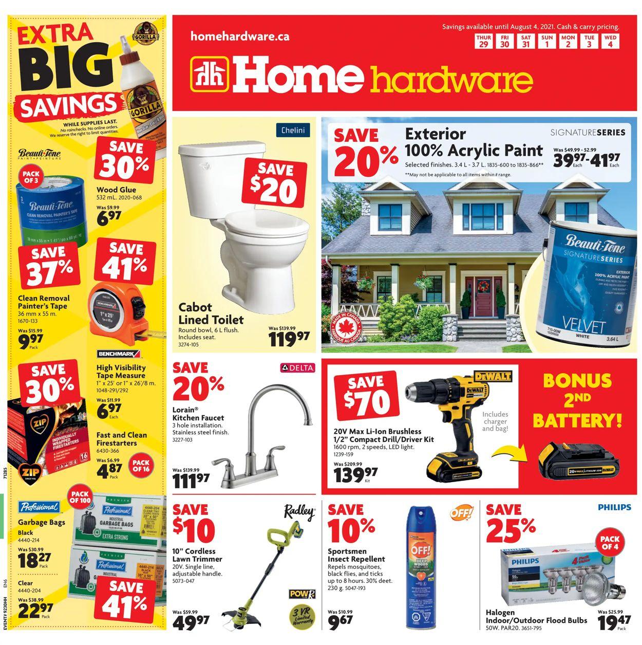 Home Hardware Flyer - 07/29-08/04/2021