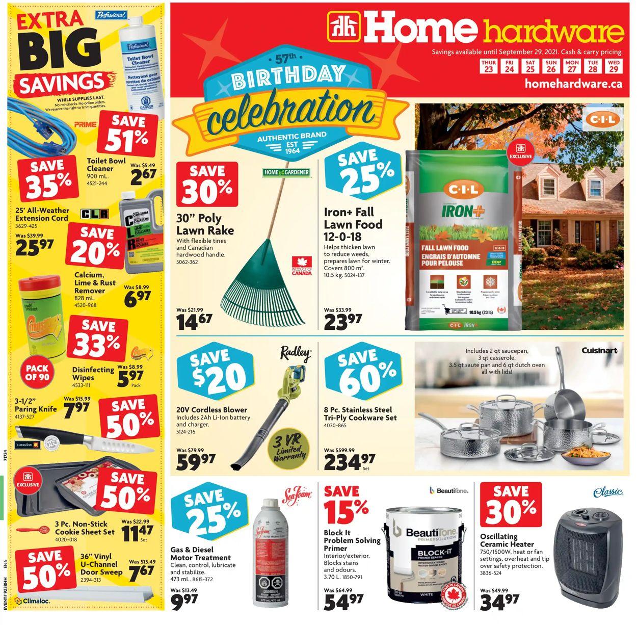 Home Hardware Flyer - 09/23-09/29/2021