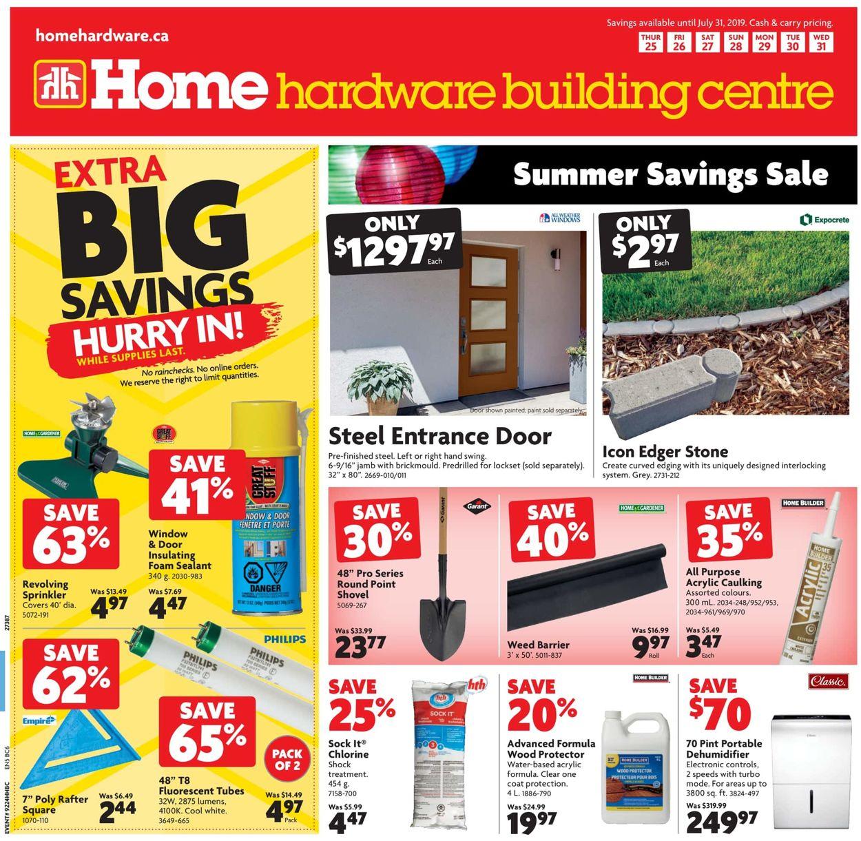 Home Hardware Flyer - 07/25-07/31/2019