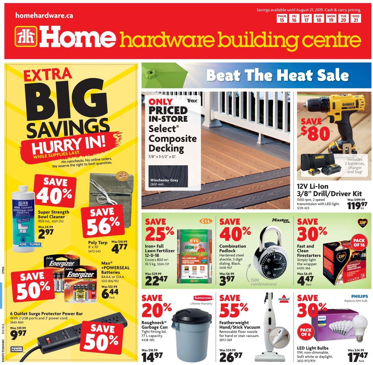 Home Hardware Flyer - 08/15-08/21/2019