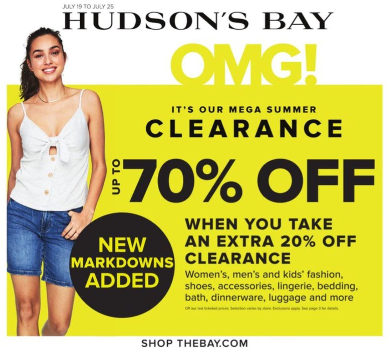 Hudson's Bay Flyer - 07/19-07/25/2019