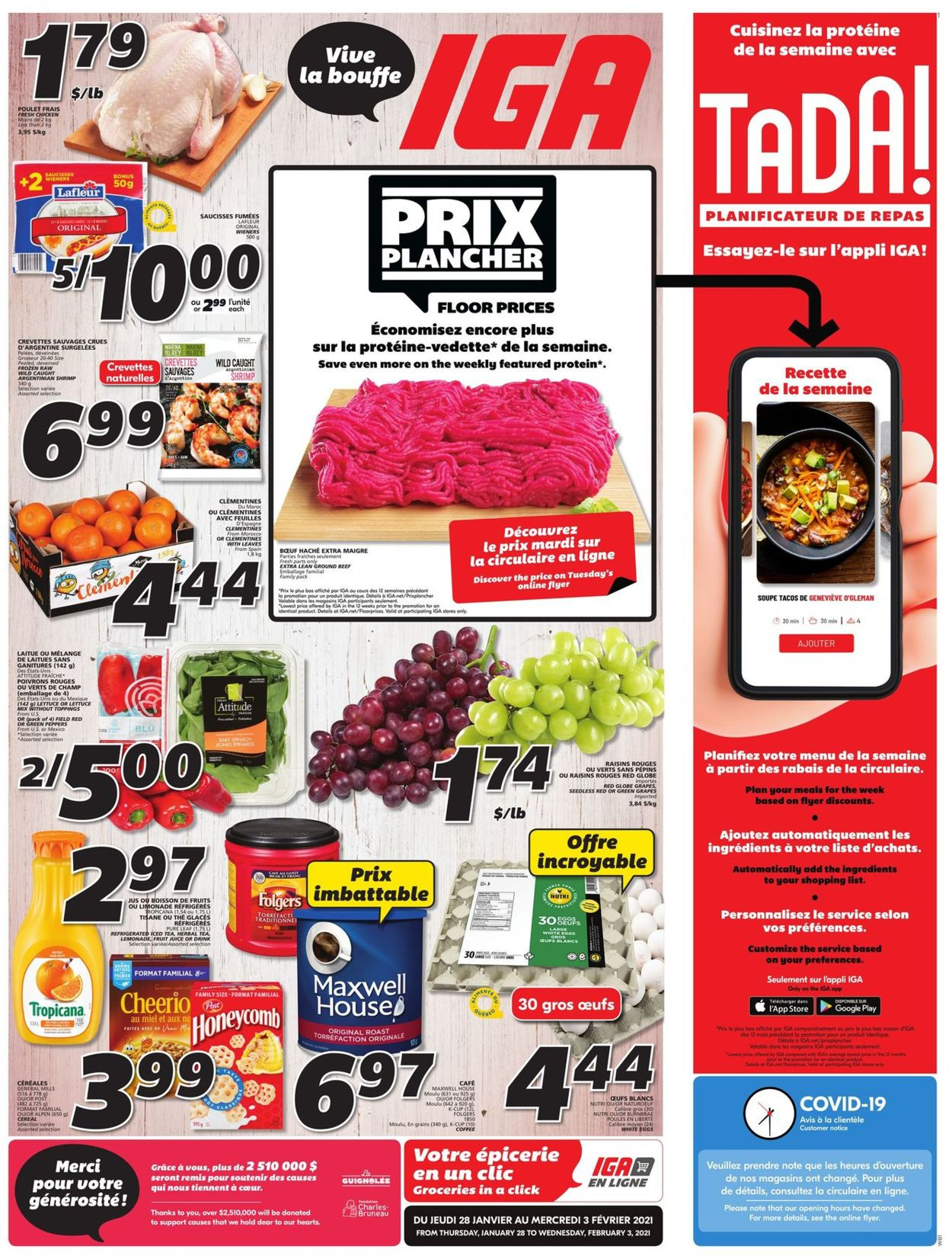 IGA - Quebec Flyer - 01/28-02/03/2021