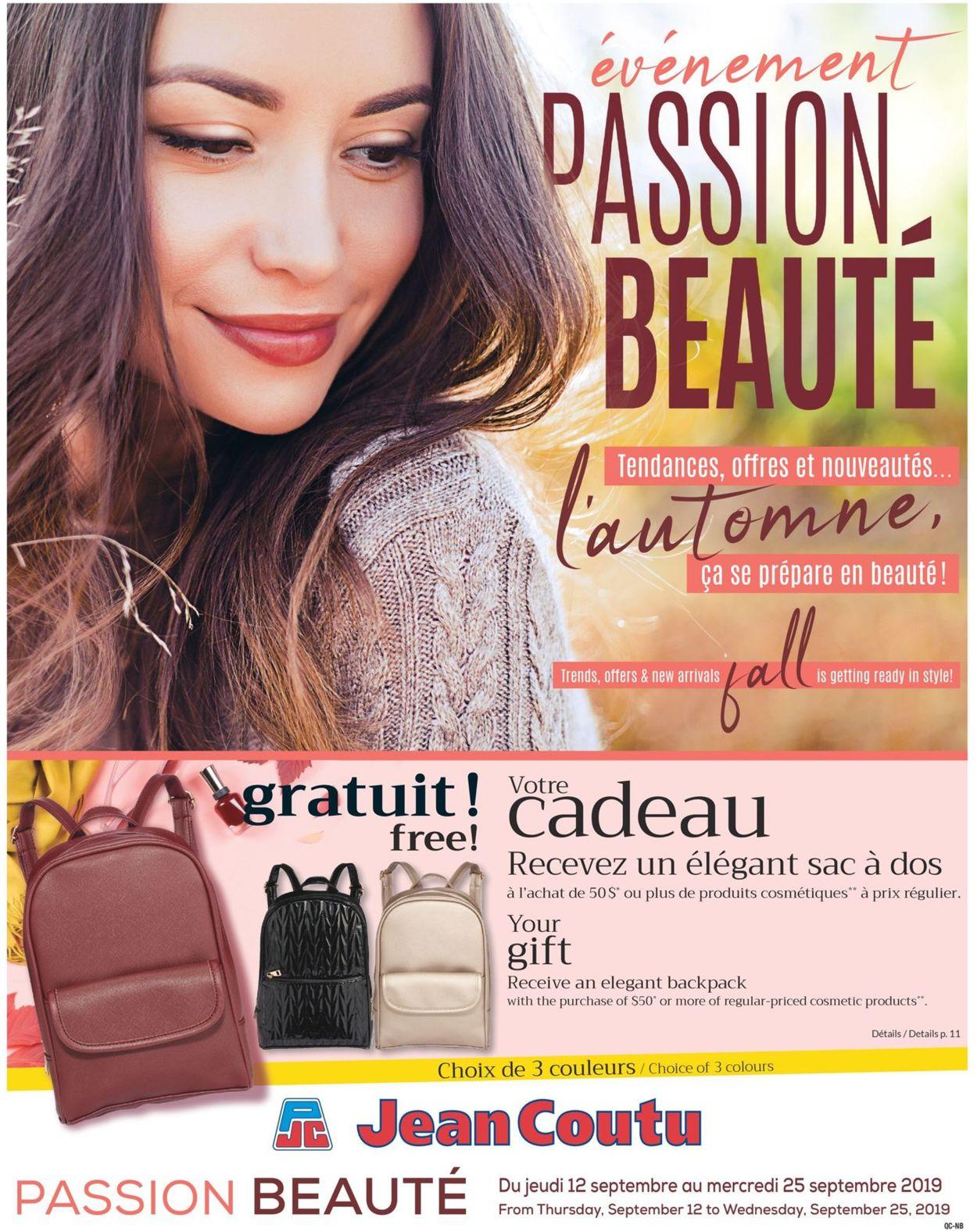 Jean Coutu Flyer - 09/12-09/25/2019