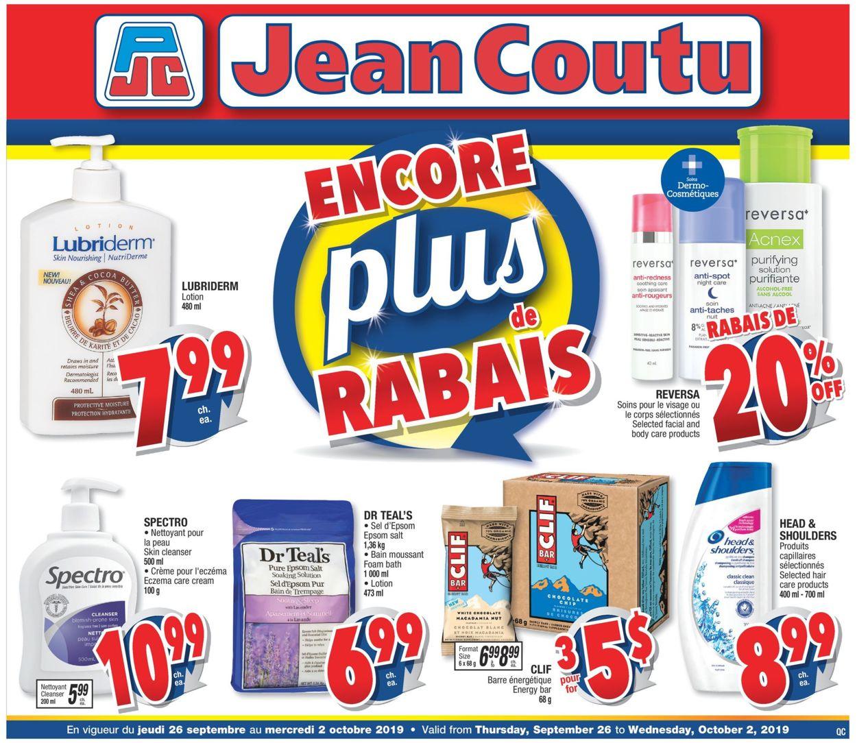 Jean Coutu Flyer - 09/26-10/02/2019